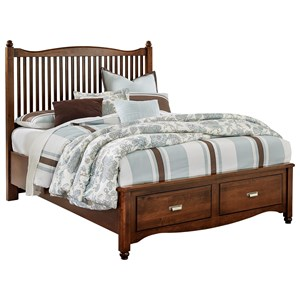 Vaughan Bassett American Maple Queen Slat Storage Bed