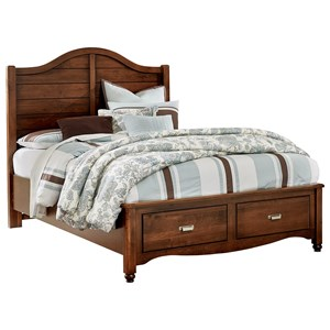 Vaughan Bassett American Maple Queen Shiplap Storage Bed