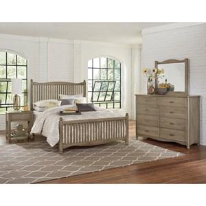 Vaughan Bassett American Maple Full Bedroom Group