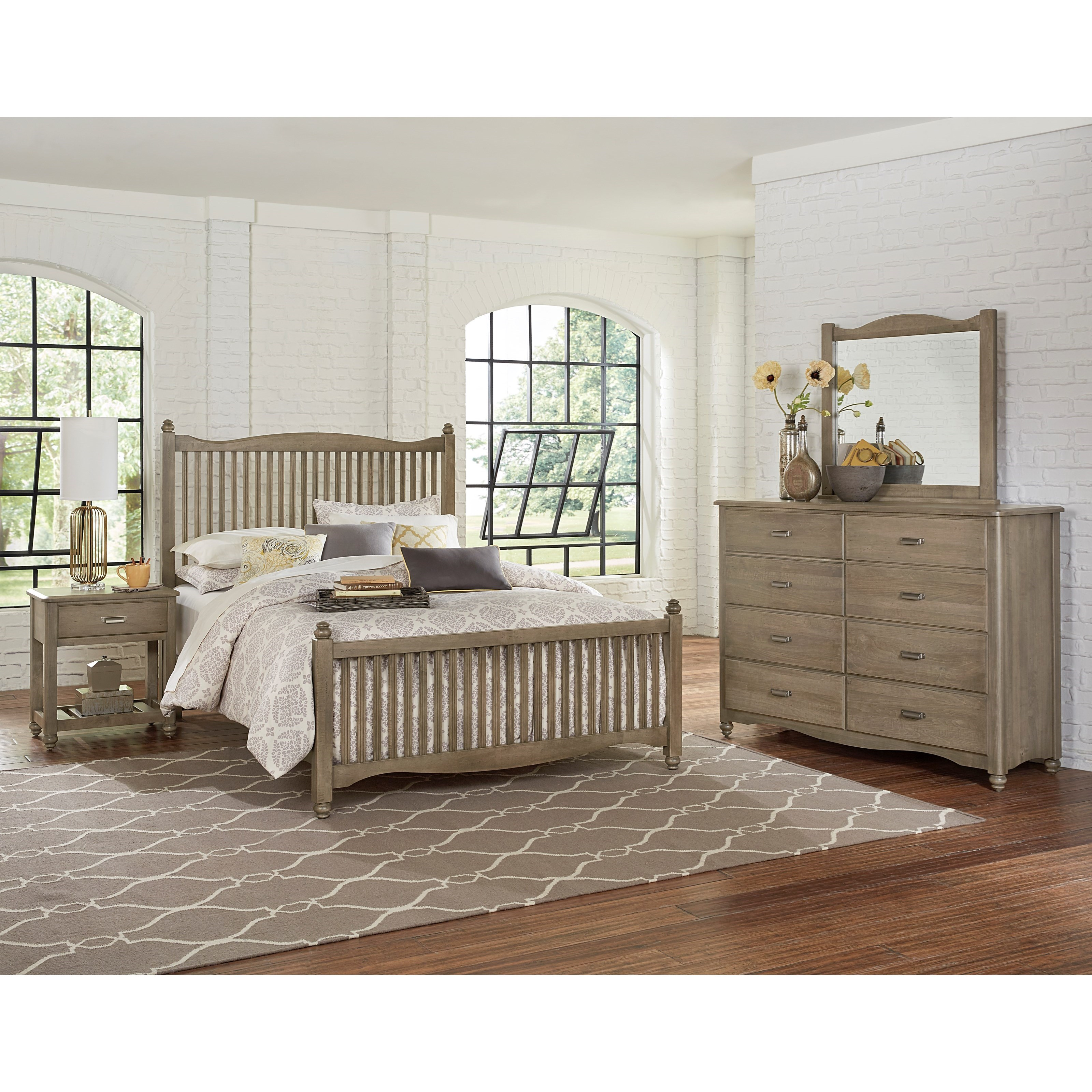 Vaughan Bassett American Maple King Bedroom Group - Item Number: 401 K Bedroom Group 1