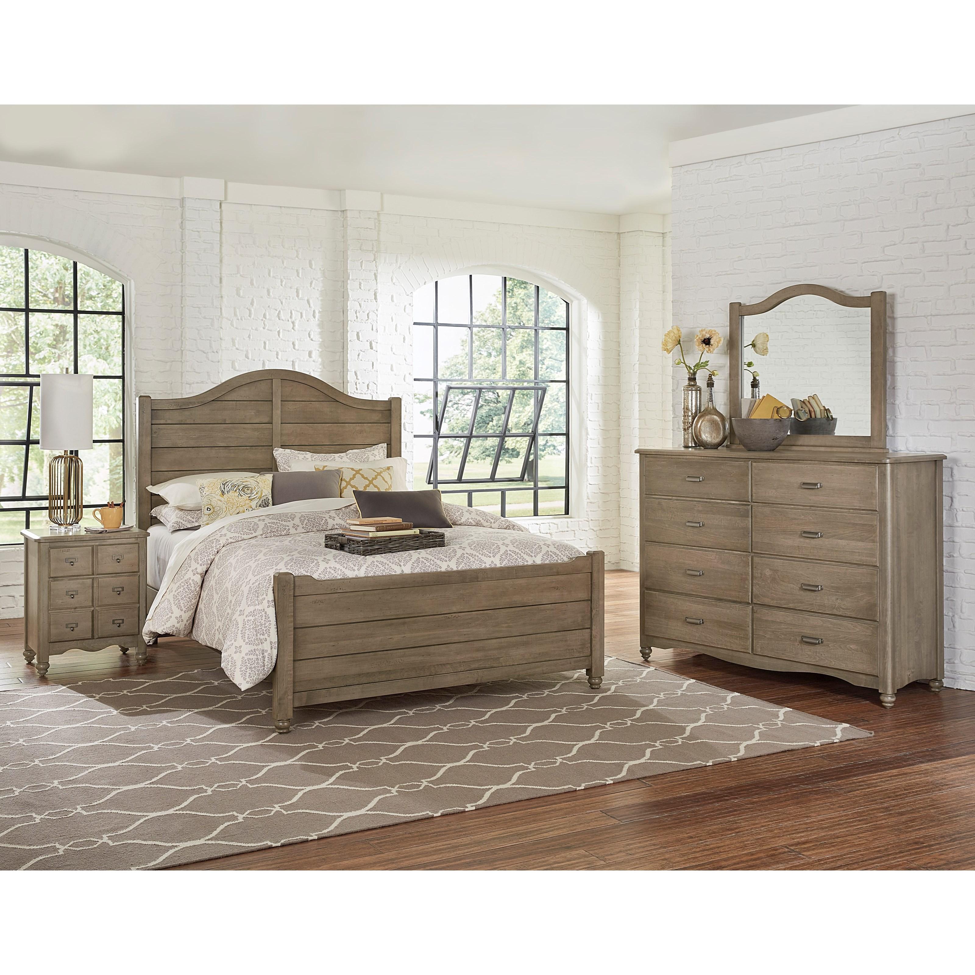 Vaughan Bassett American Maple King Bedroom Group - Item Number: 401 K Bedroom Group 2