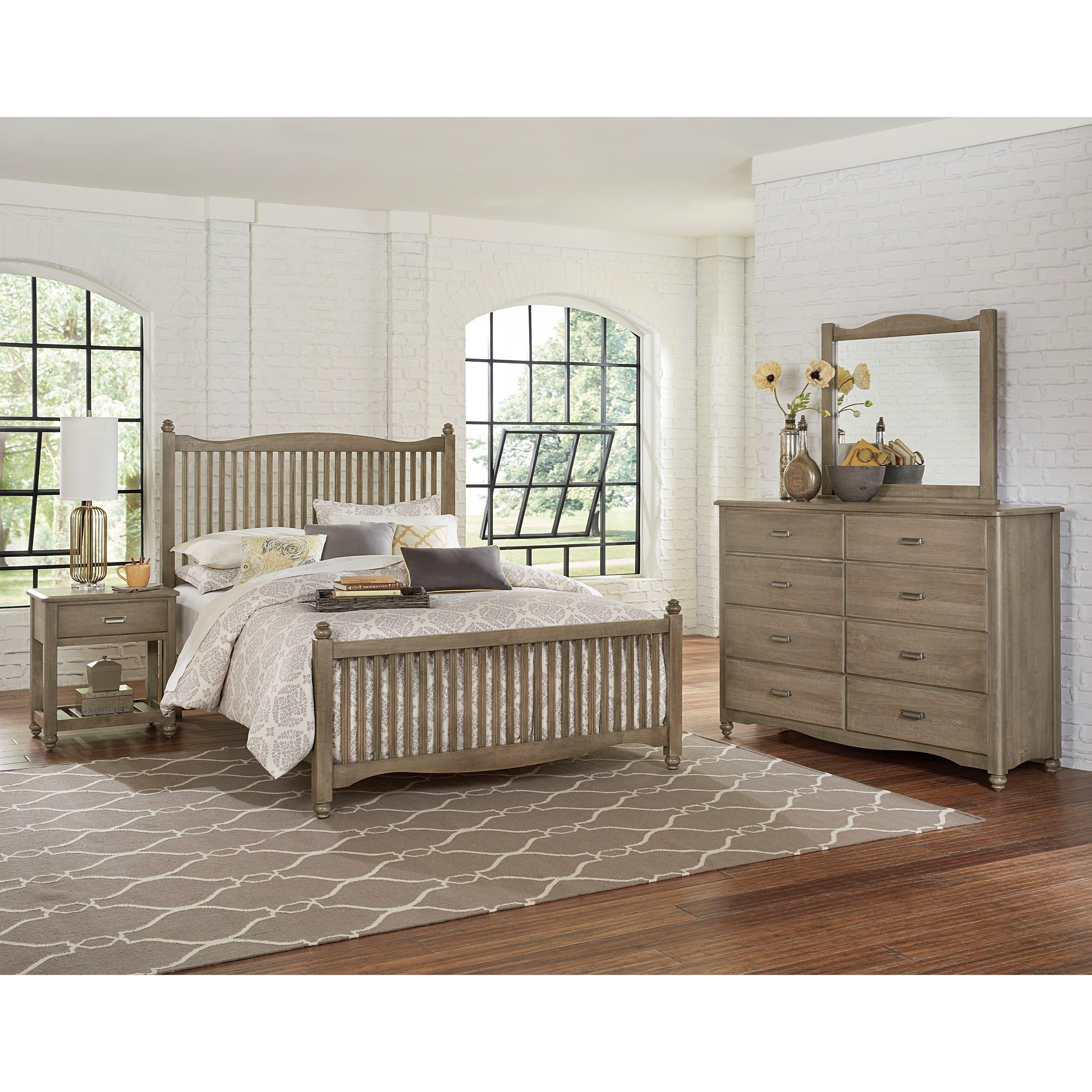 Vaughan Bassett American Maple Queen Bedroom Group - Item Number: 401 Q Bedroom Group 1