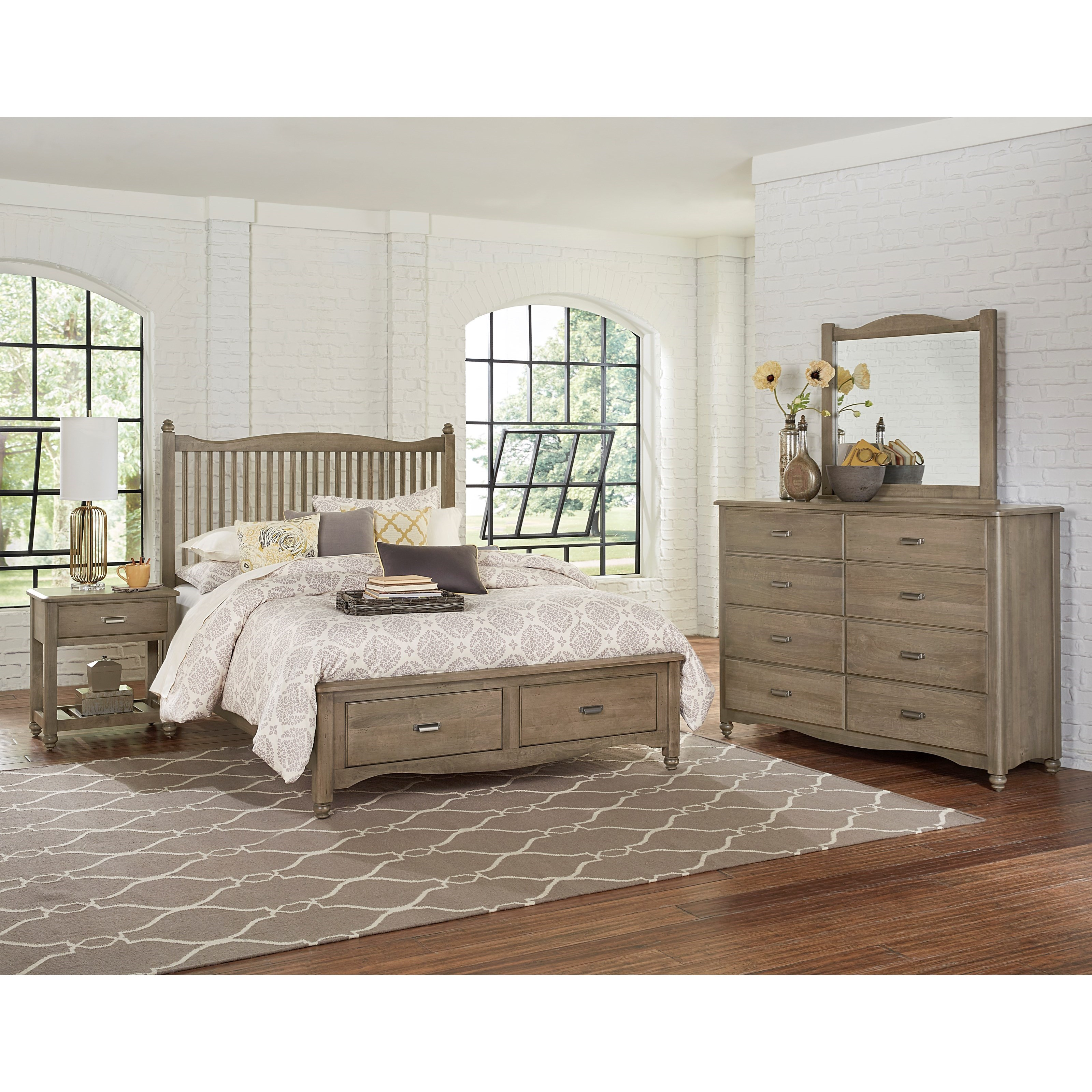 Vaughan Bassett American Maple Queen Bedroom Group - Item Number: 401 Q Bedroom Group 3