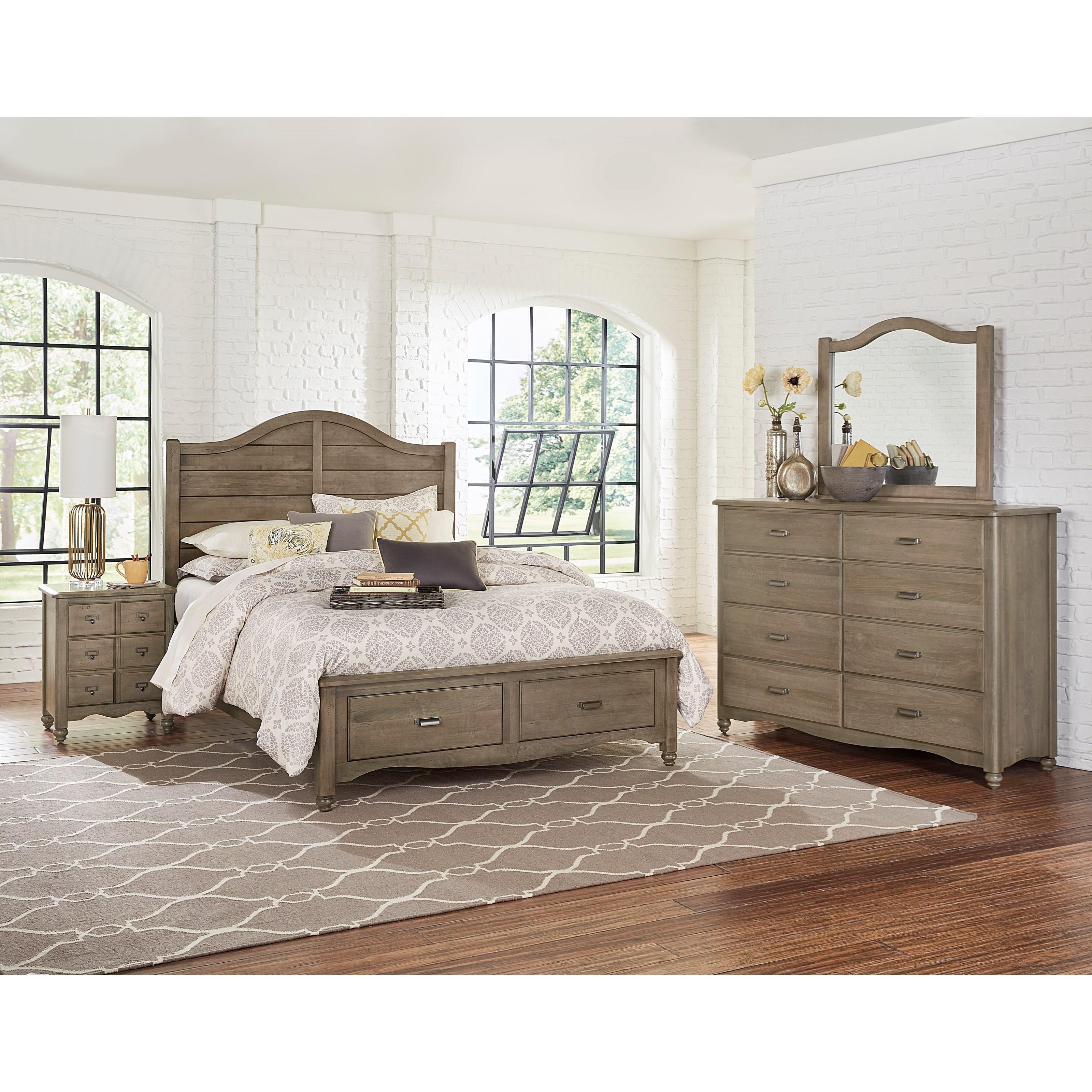 Vaughan Bassett American Maple Queen Bedroom Group - Item Number: 401 Q Bedroom Group 4
