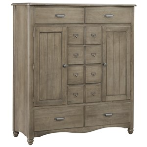 Vaughan Bassett American Maple Sweater Chest - 8 Drawers, 2 Shelves