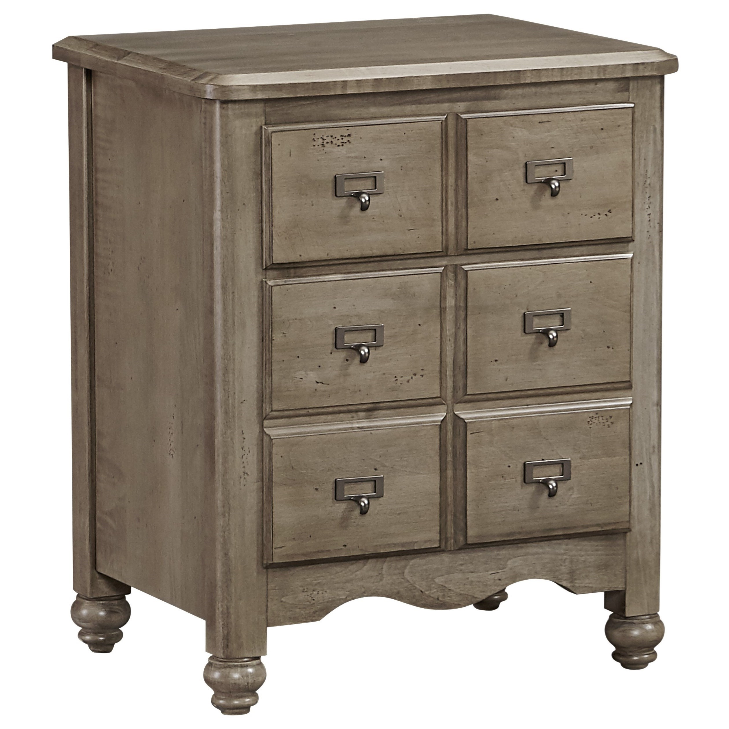 Vaughan Bassett American Maple Apothecary Night Stand - 2 Drawers - Item Number: 401-228
