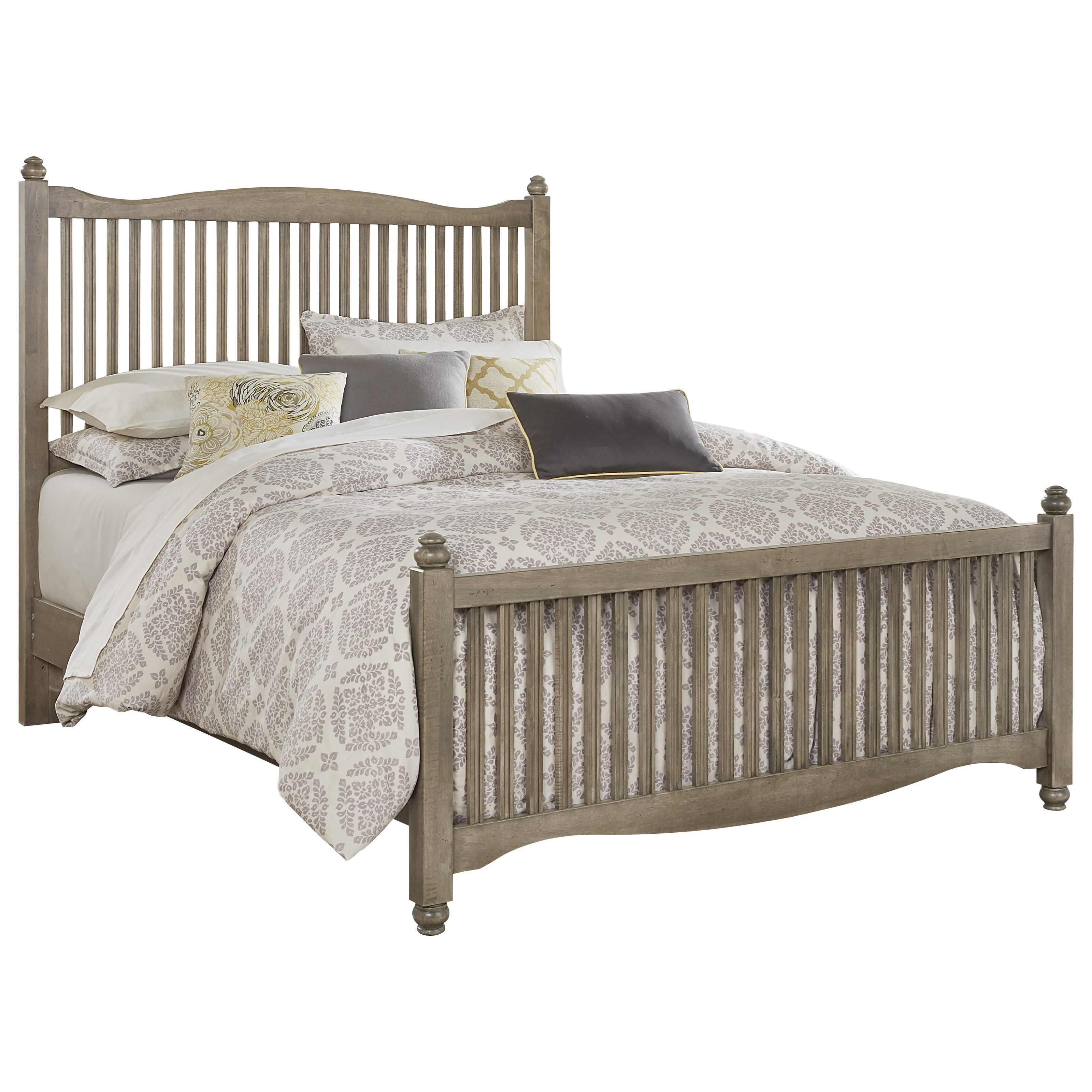 Vaughan Bassett American Maple Twin Slat Bed - Item Number: 401-377+773+900