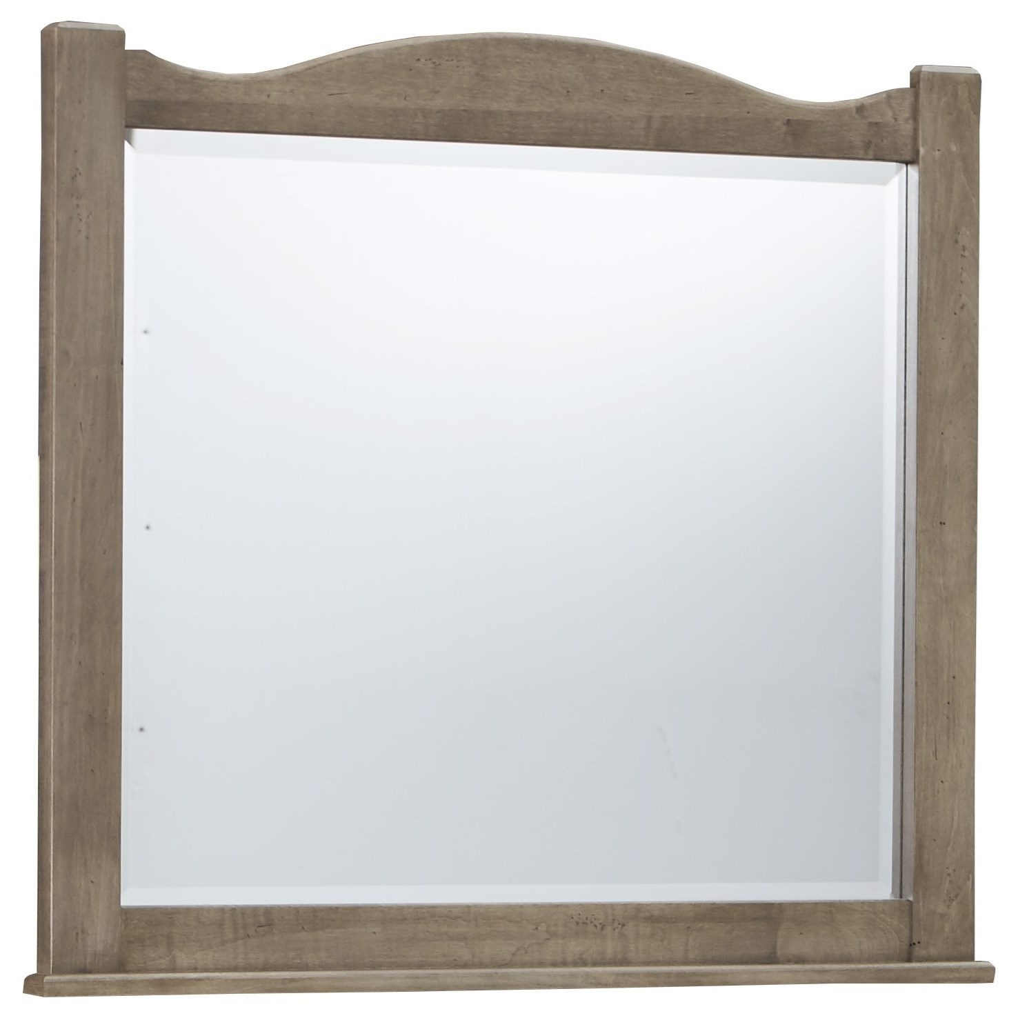 Vaughan Bassett American Maple Landscape Mirror - Beveled Glass - Item Number: 401-446