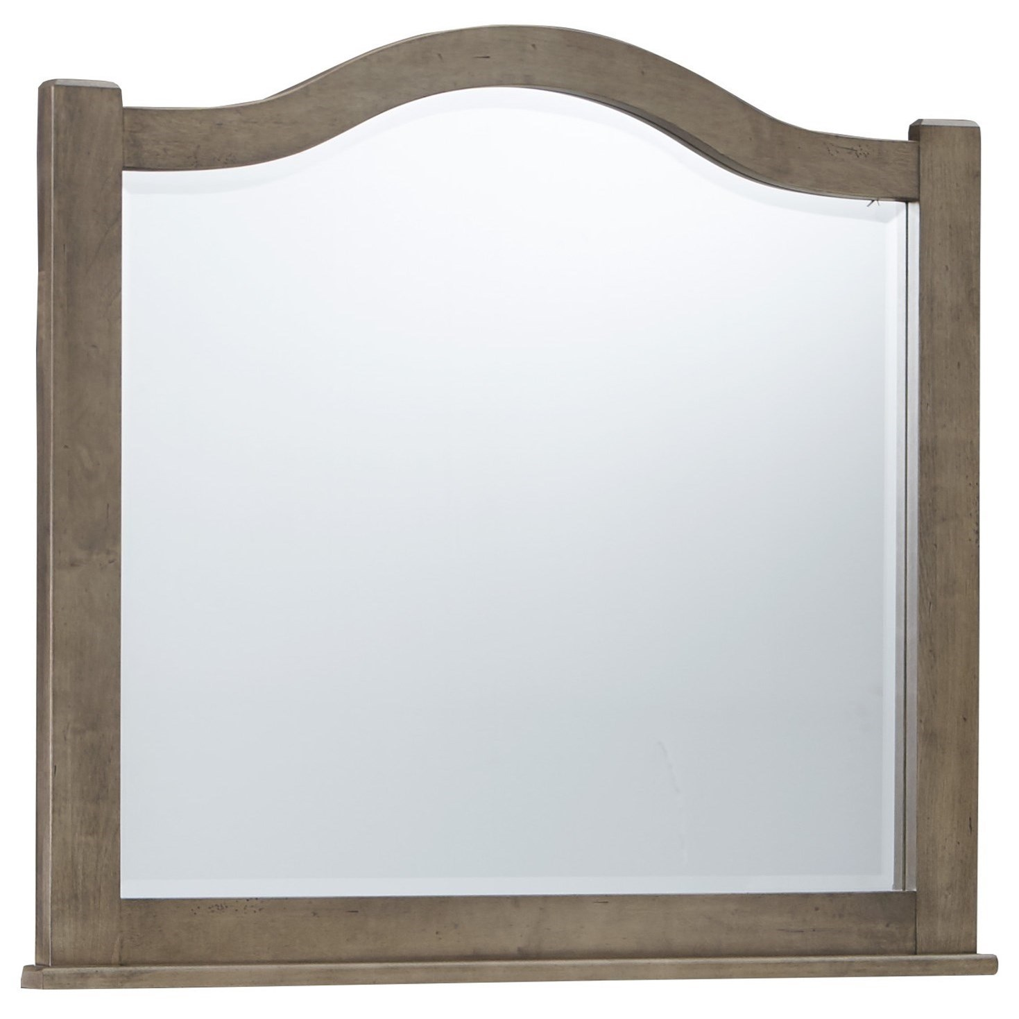 Vaughan Bassett American Maple Arched Mirror - Beveled Glass - Item Number: 401-447