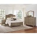 Vaughan Bassett American Maple Solid Wood King Shiplap Storage Bed