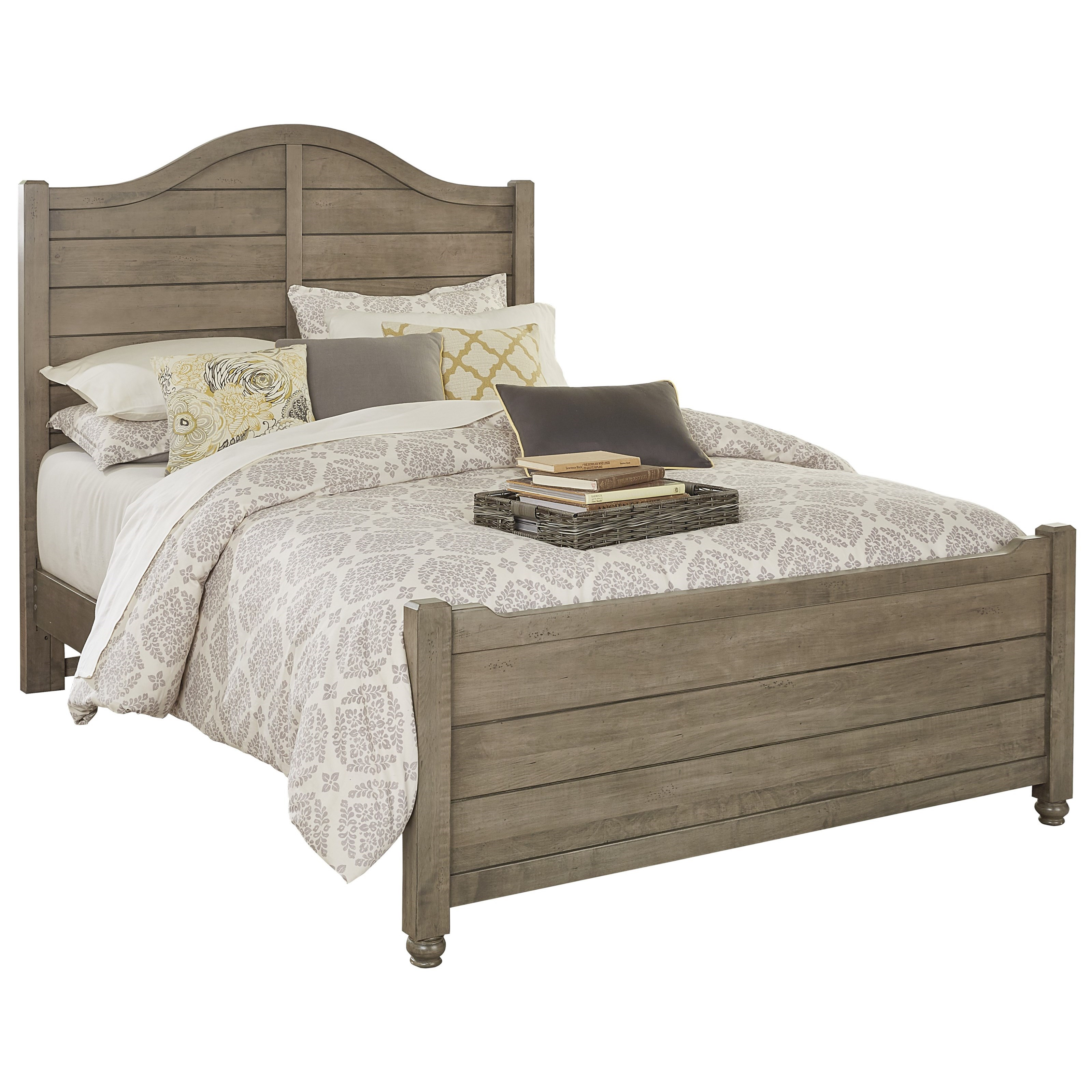 Vaughan Bassett American Maple Full Shiplap Bed - Item Number: 401-449+994+911