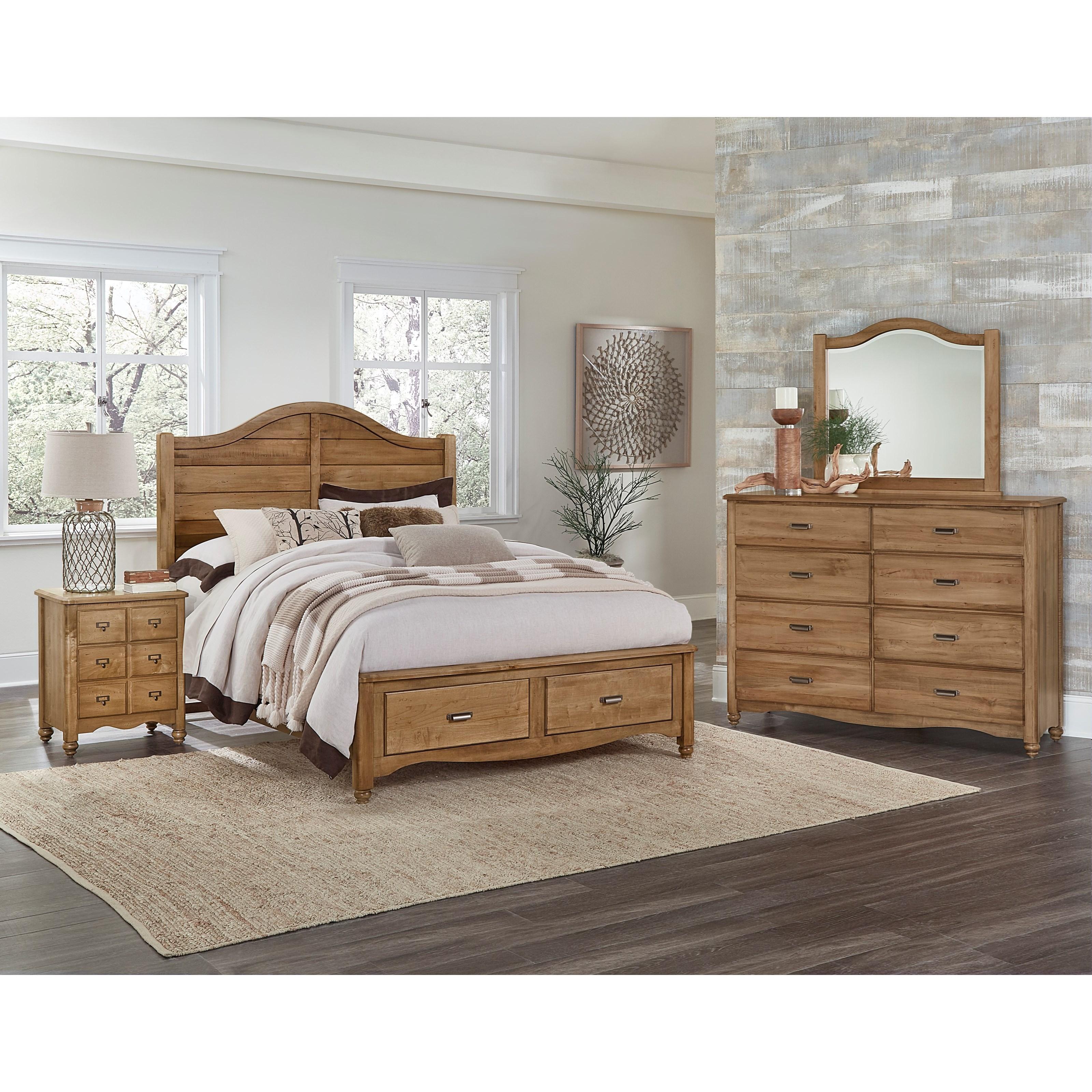 Vaughan Bassett American Maple King Bedroom Group - Item Number: 402 K Bedroom Group 4
