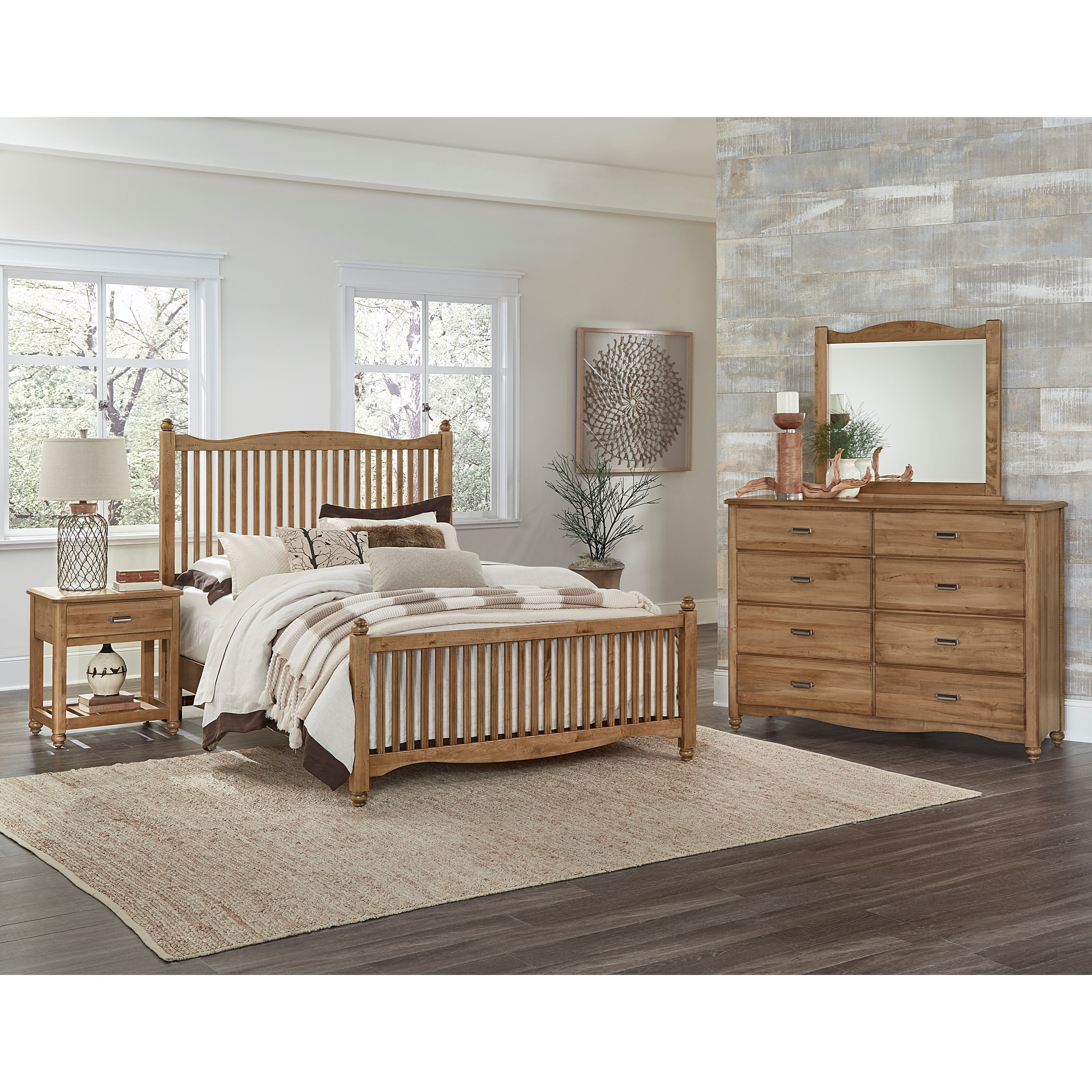 Vaughan Bassett American Maple Twin Bedroom Group - Item Number: 402 T Bedroom Group 1