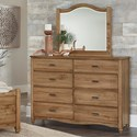 Vaughan Bassett American Maple Bureau & Arched Mirror - Item Number: 402-004+447
