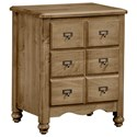 Vaughan Bassett American Maple Apothecary Night Stand - 2 Drawers - Item Number: 402-228