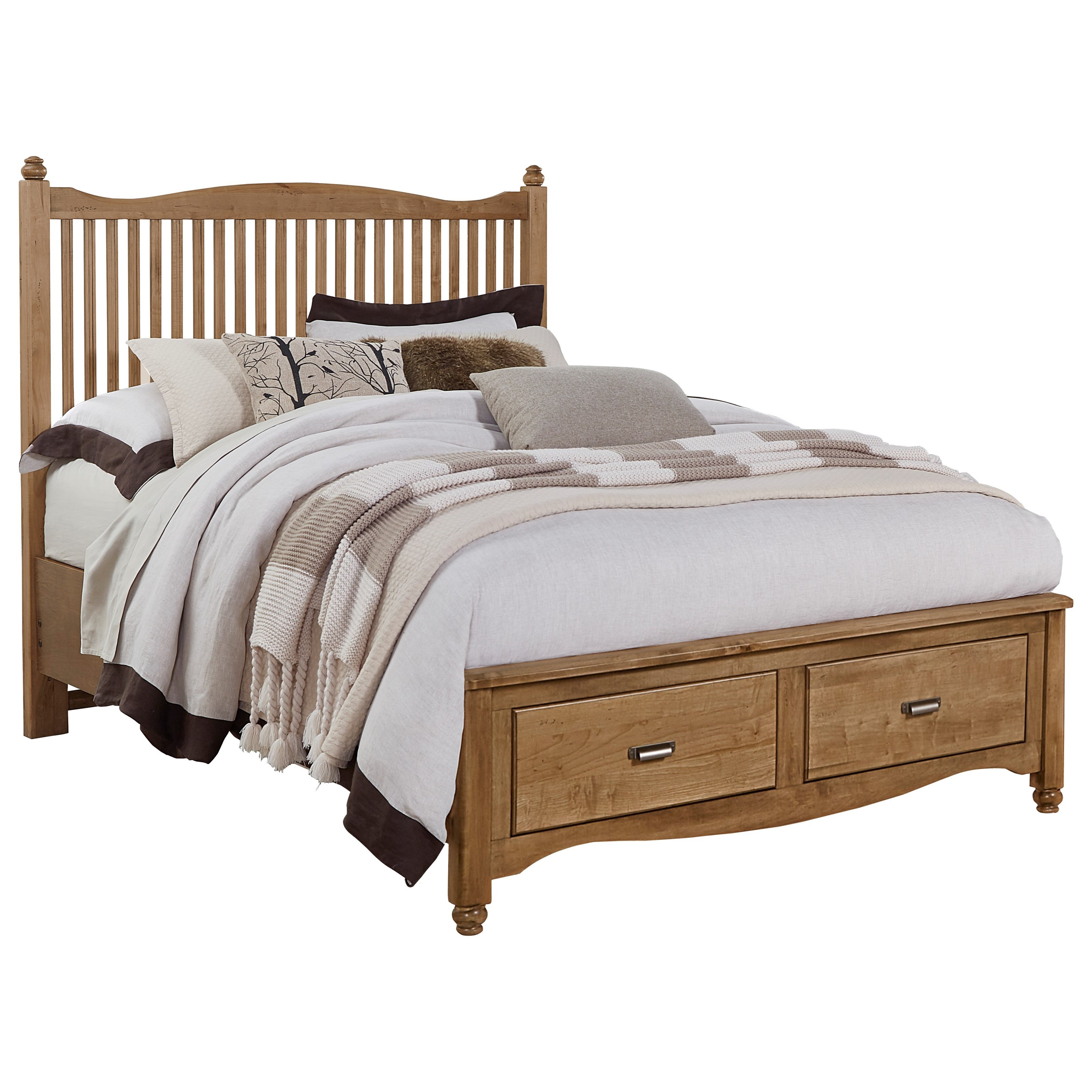 Vaughan Bassett American Maple Queen Slat Storage Bed - Item Number: 402-557+050B+502+555T