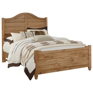 Vaughan Bassett American Maple Queen Shiplap Bed