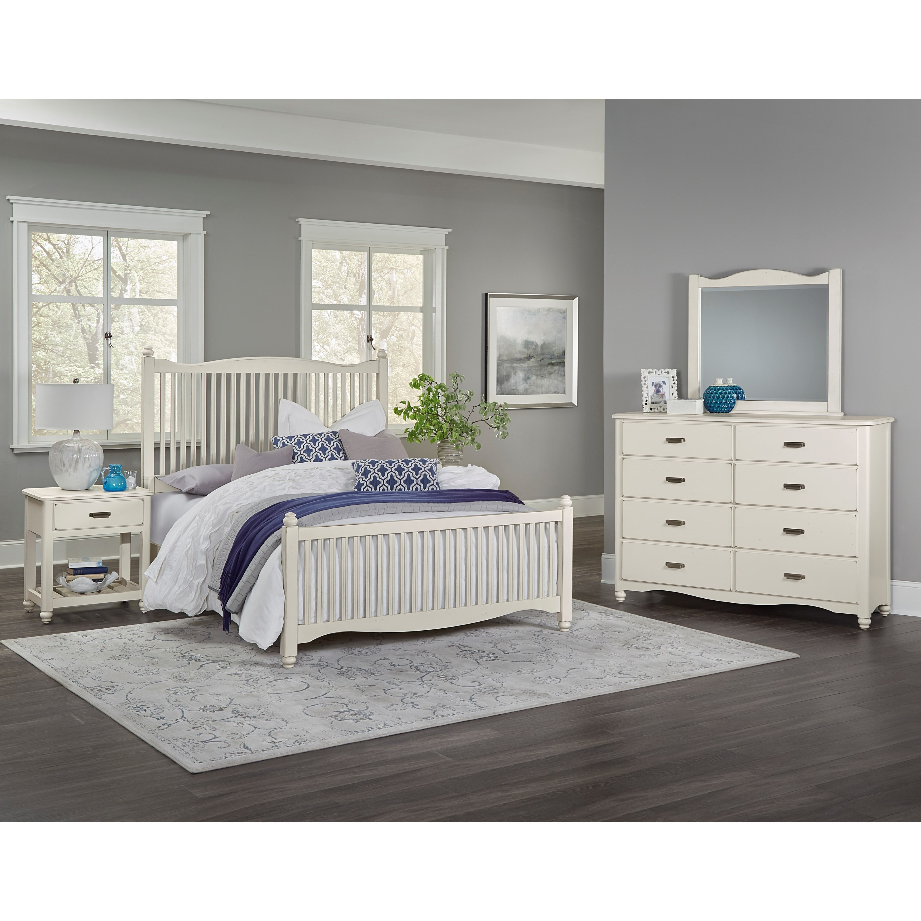 Vaughan Bassett American Maple King Bedroom Group - Item Number: 404 K Bedroom Group 1