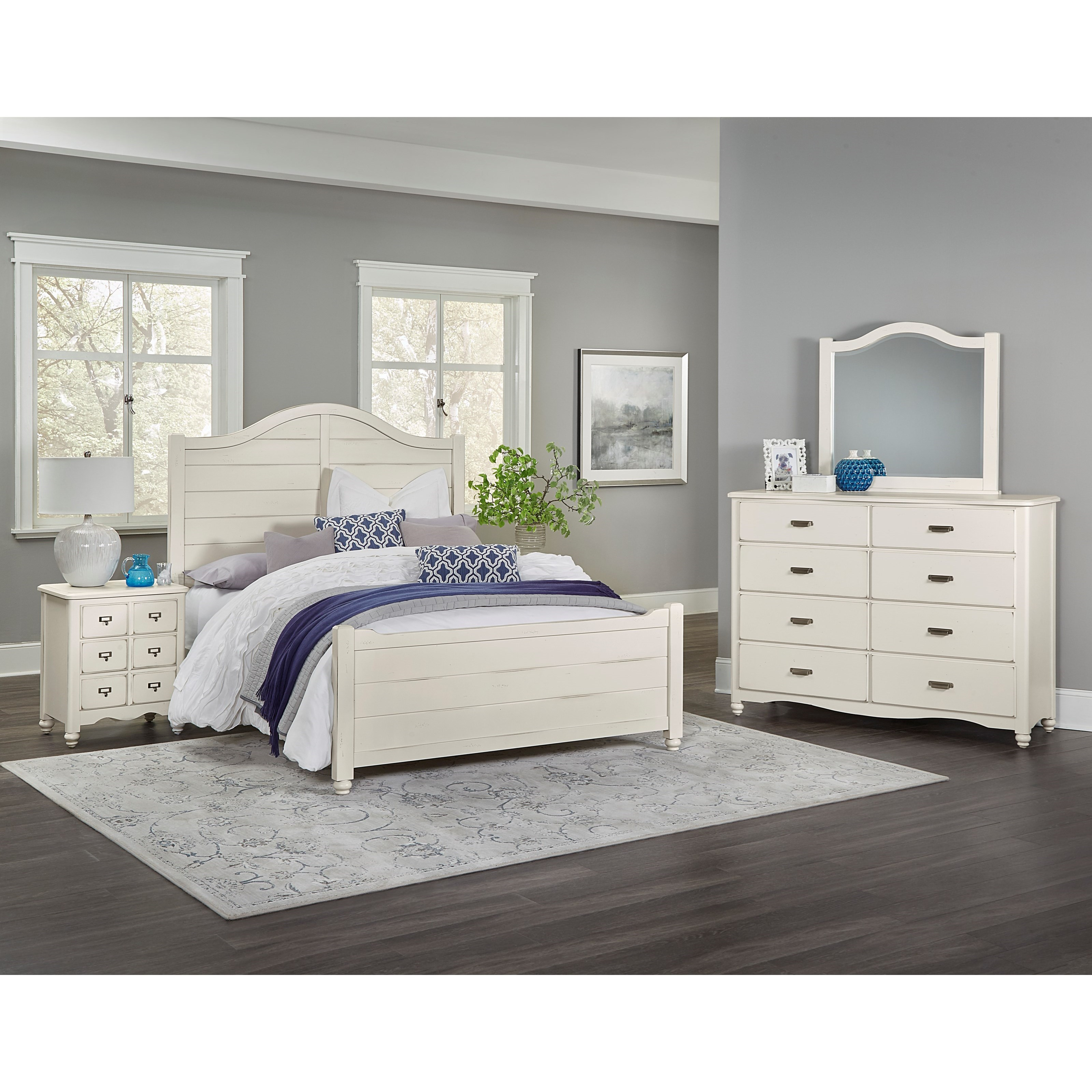 Vaughan Bassett American Maple King Bedroom Group - Item Number: 404 K Bedroom Group 2