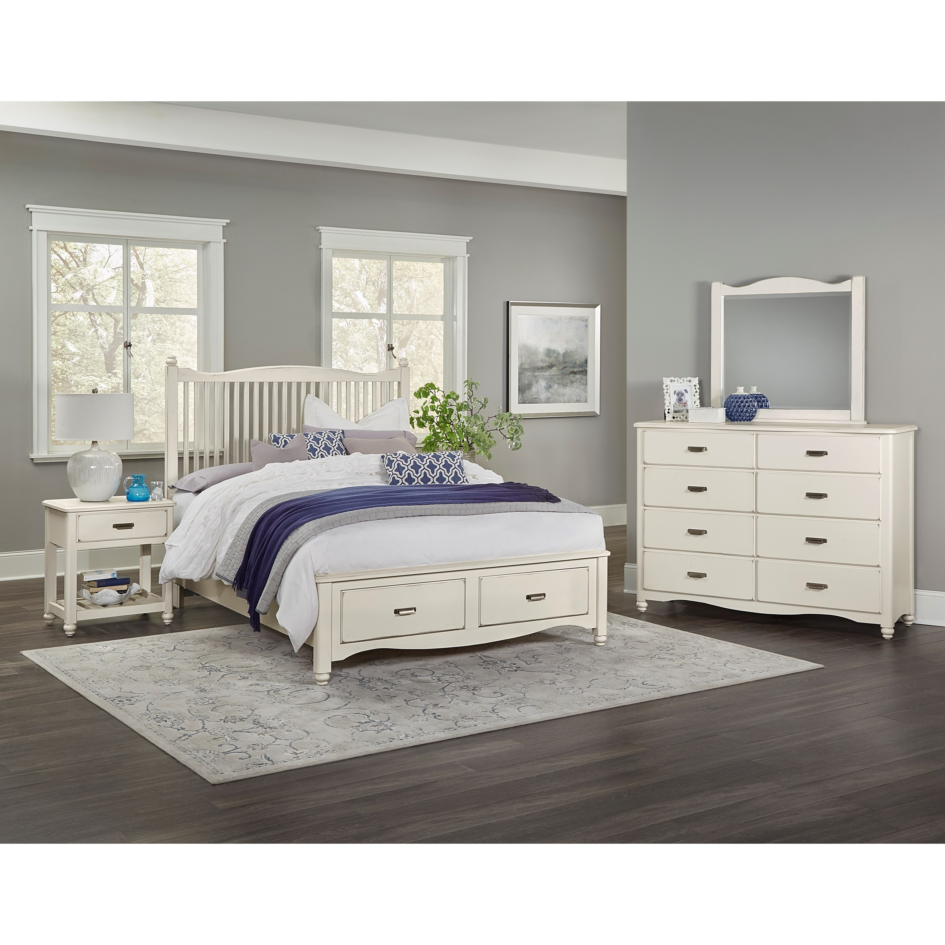 Vaughan Bassett American Maple King Bedroom Group - Item Number: 404 K Bedroom Group 3