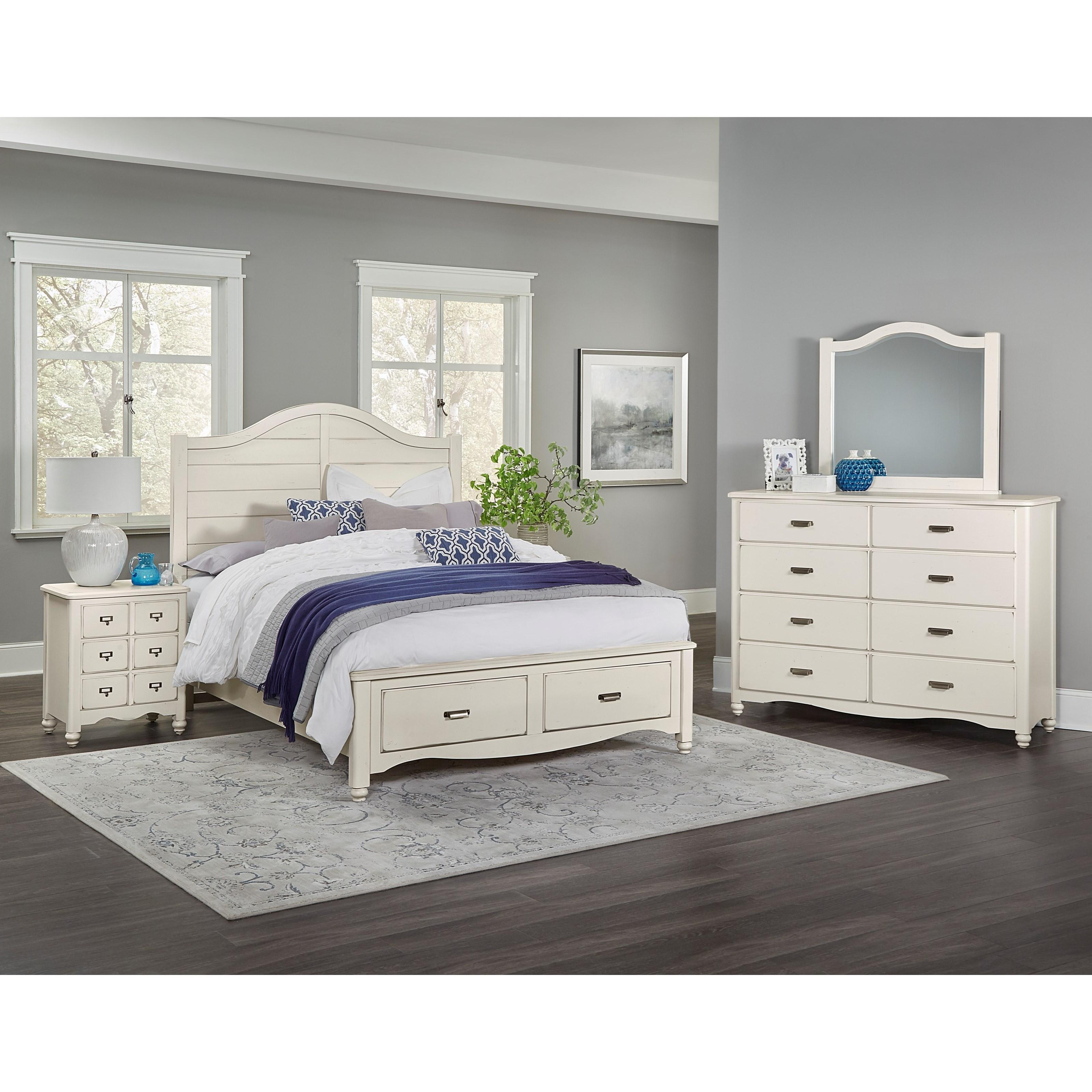 Vaughan Bassett American Maple King Bedroom Group - Item Number: 404 K Bedroom Group 4