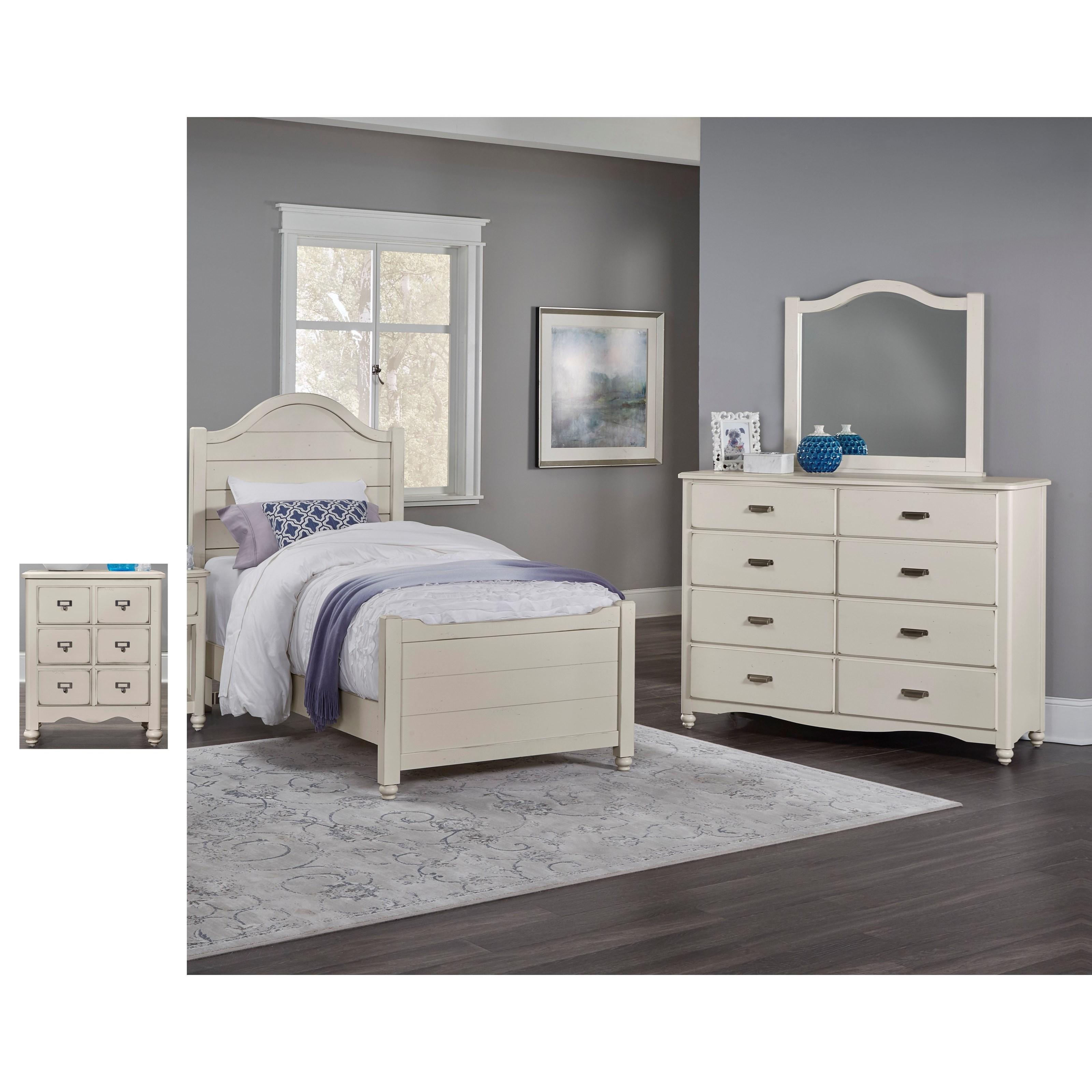 Vaughan Bassett American Maple Twin Bedroom Group - Item Number: 404 T Bedroom Group 2