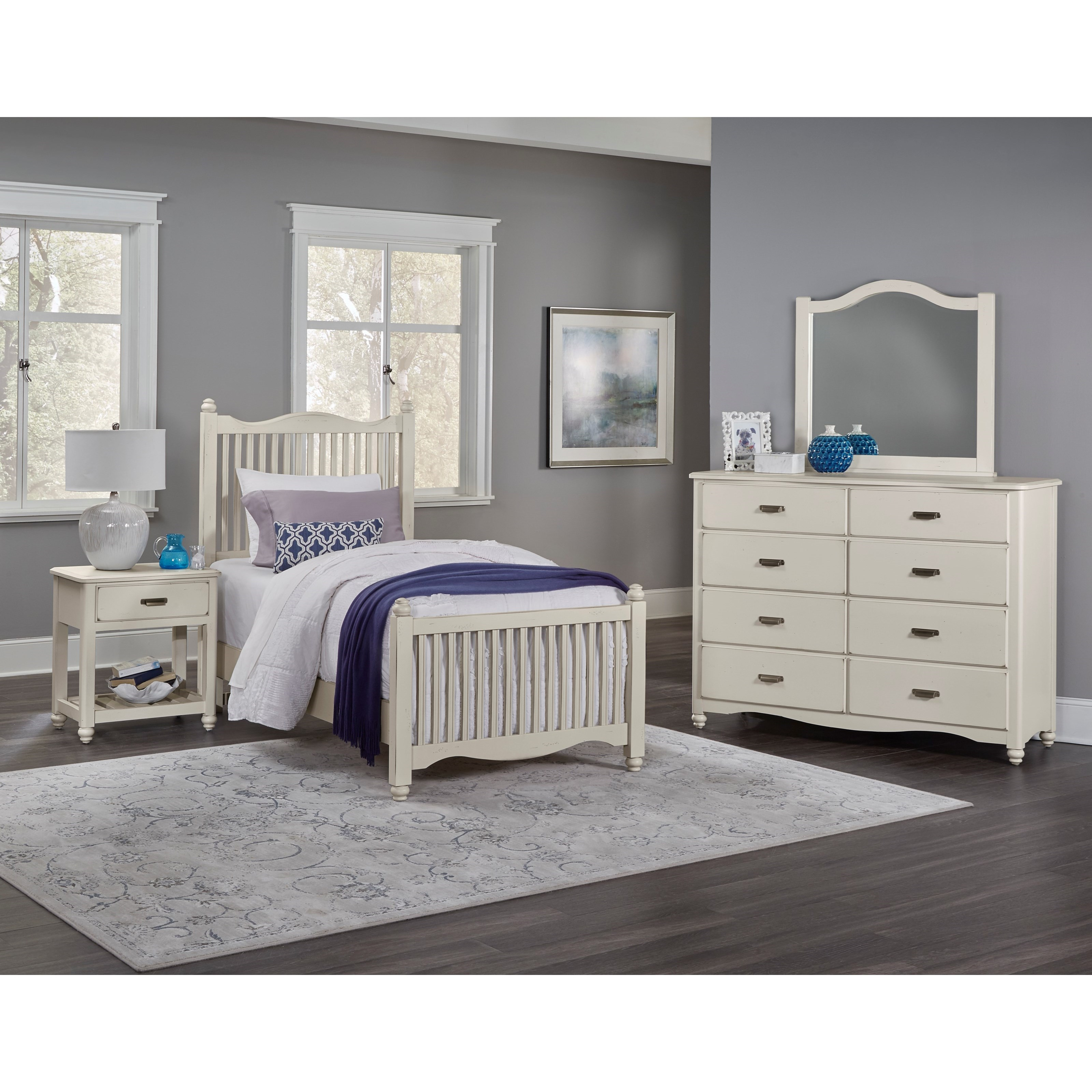 Vaughan Bassett American Maple Twin Bedroom Group - Item Number: 404 T Bedroom Group 5