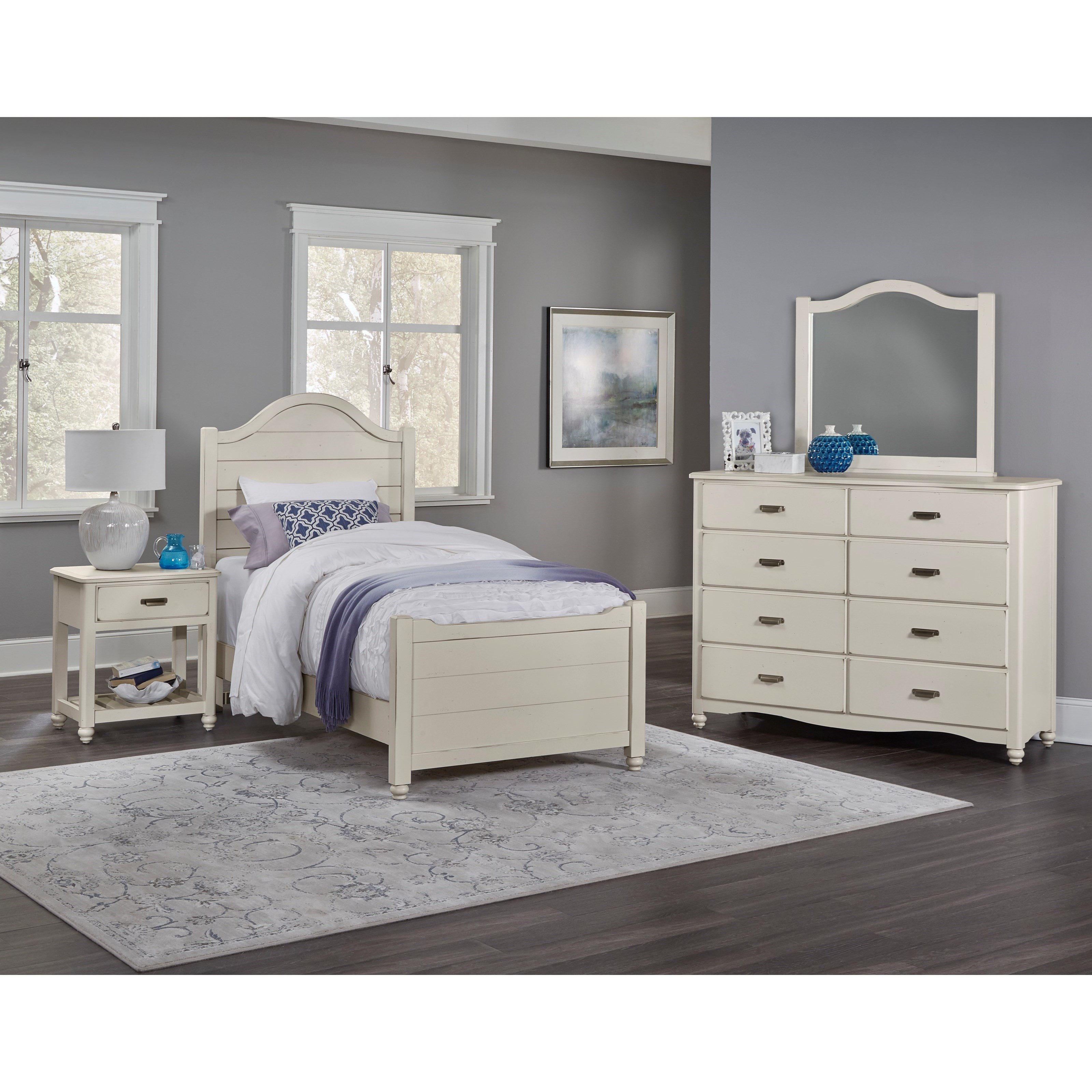 Vaughan Bassett American Maple Twin Bedroom Group - Item Number: 404 T Bedroom Group 6