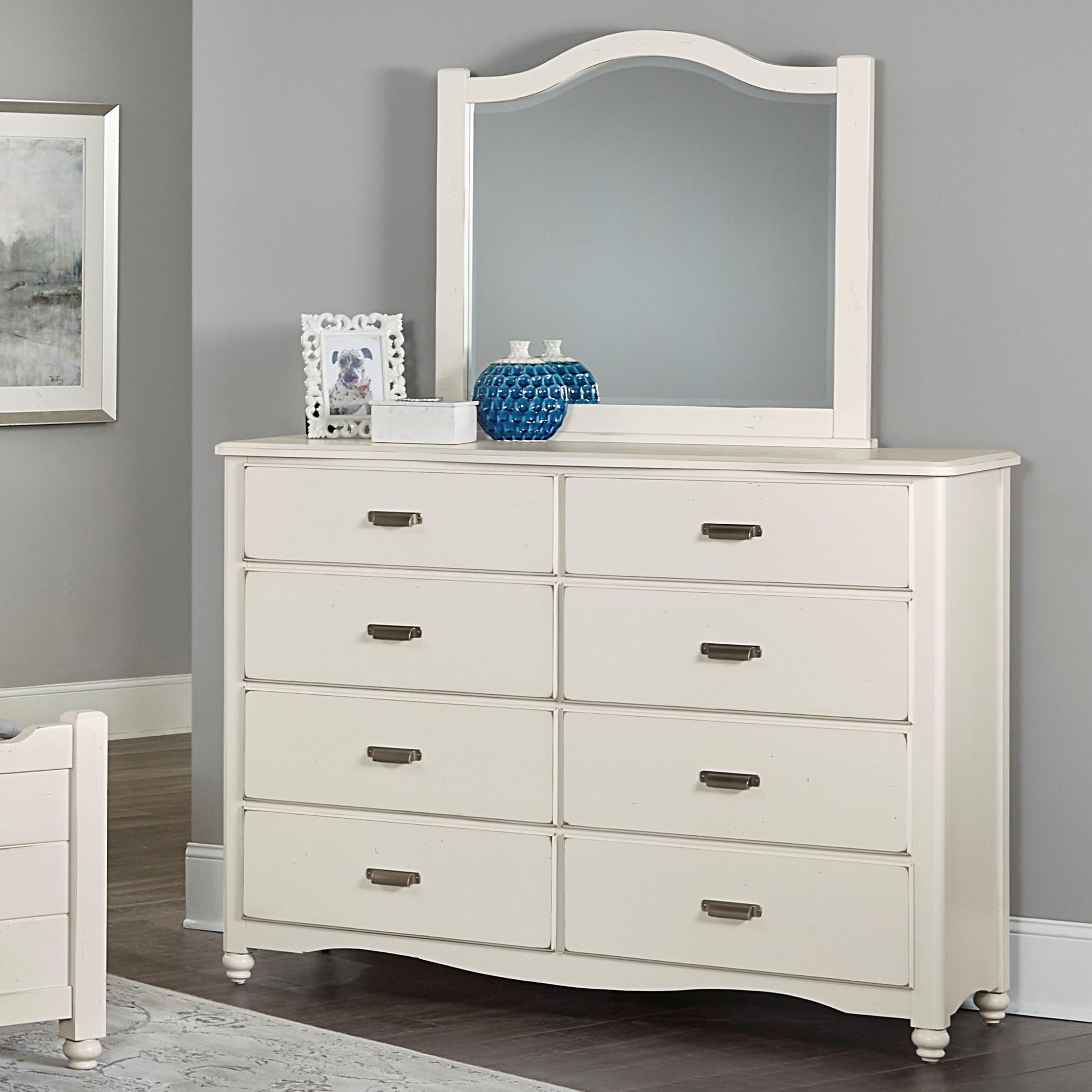 Vaughan Bassett American Maple Bureau & Arched Mirror - Item Number: 404-004+447