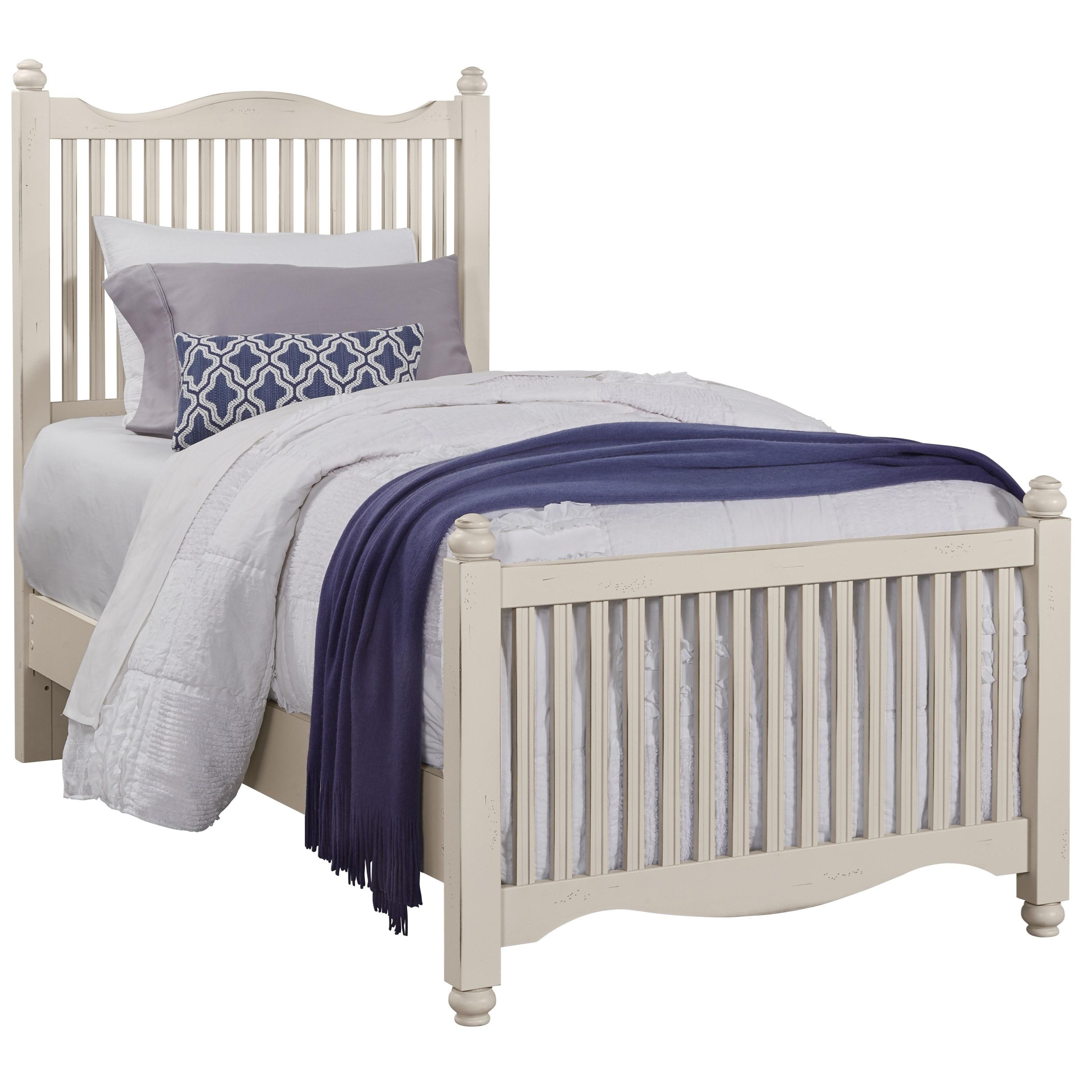 Vaughan Bassett American Maple Twin Slat Bed - Item Number: 404-377+773+900