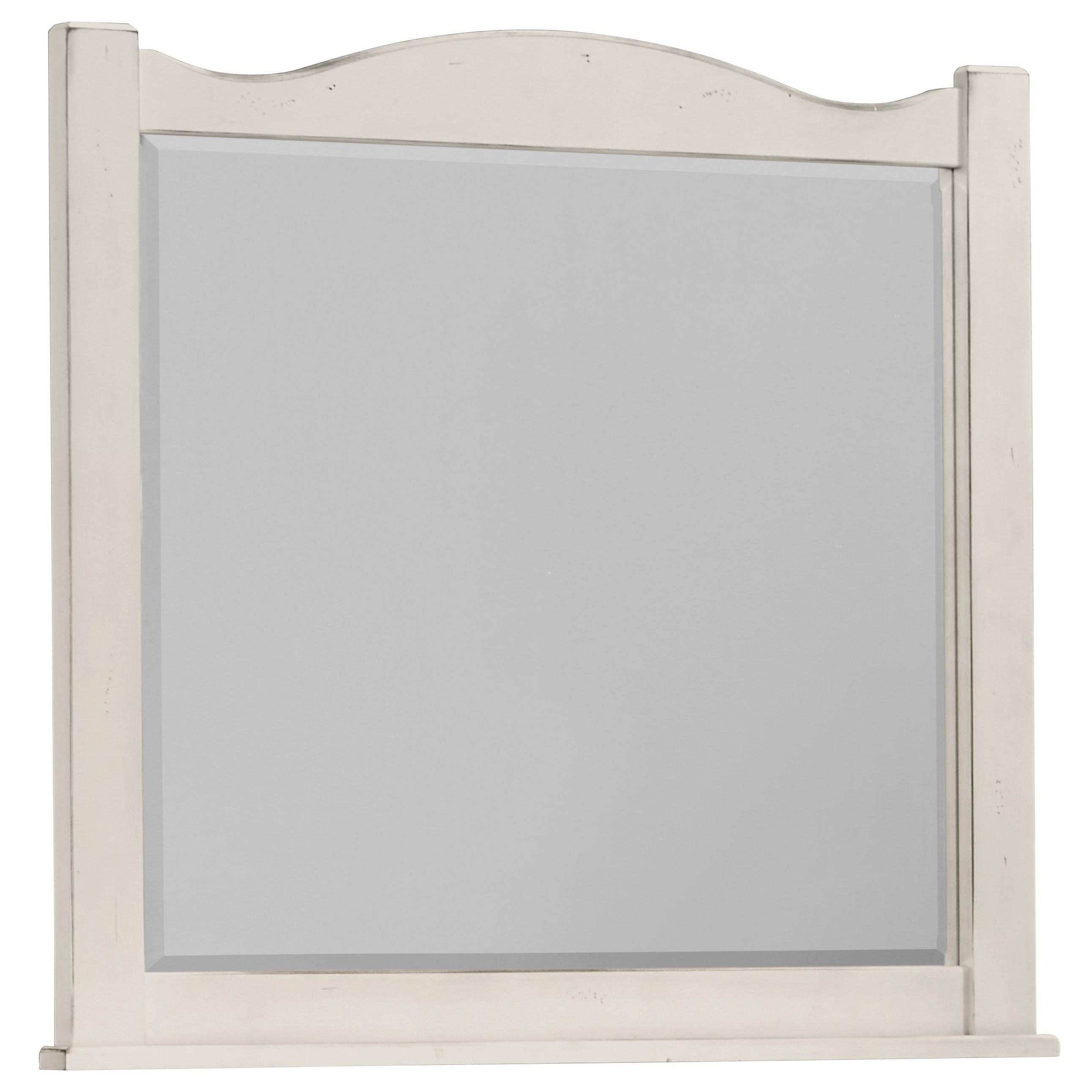 Vaughan Bassett American Maple Landscape Mirror - Beveled Glass - Item Number: 404-446
