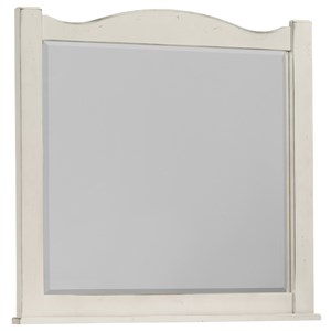 Vaughan Bassett American Maple Landscape Mirror - Beveled Glass
