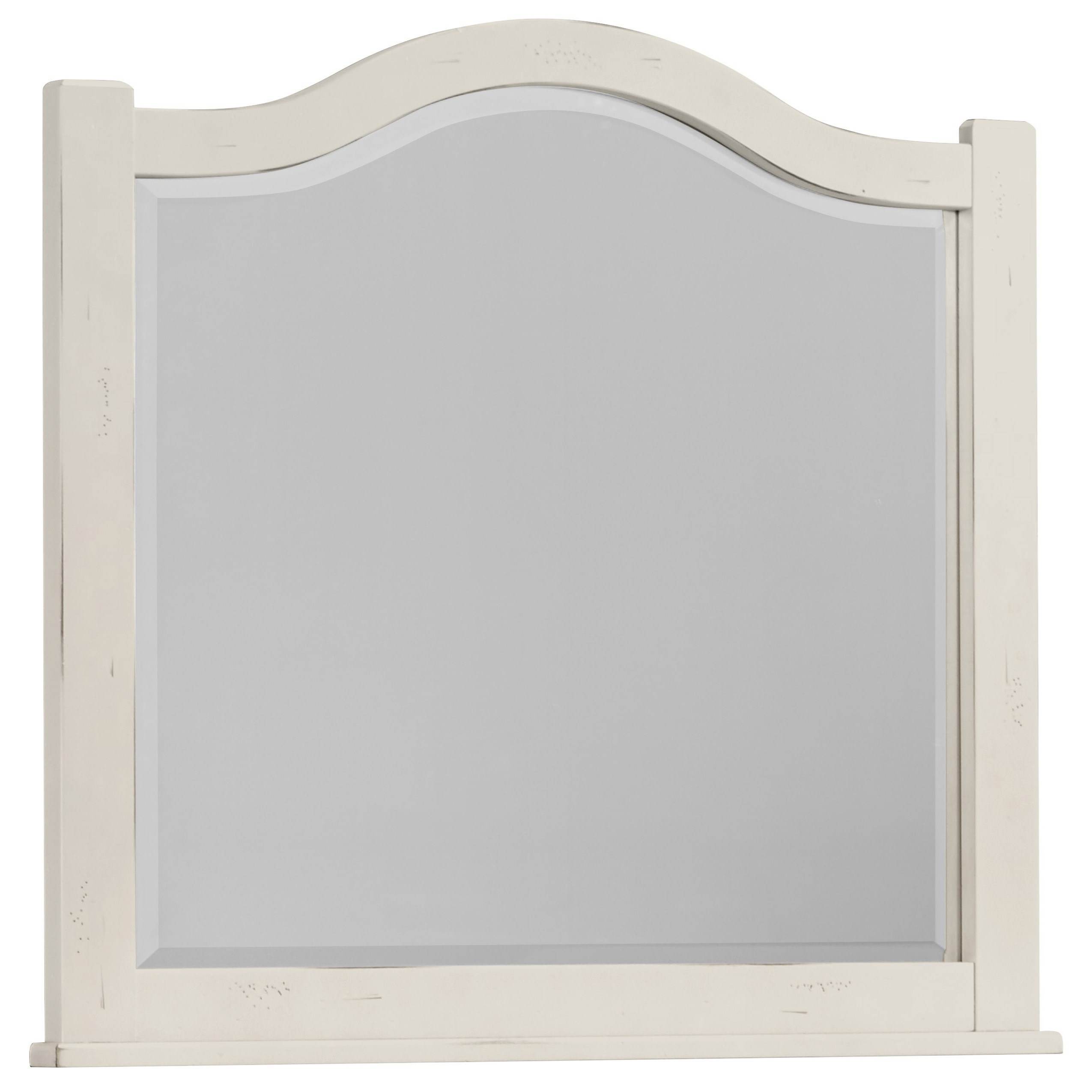 Vaughan Bassett American Maple Arched Mirror - Beveled Glass - Item Number: 404-447