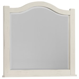 Vaughan Bassett American Maple Arched Mirror - Beveled Glass