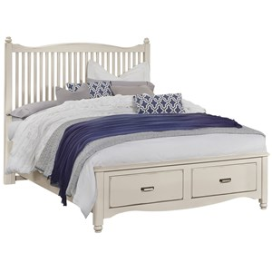 Queen Slat Storage Bed