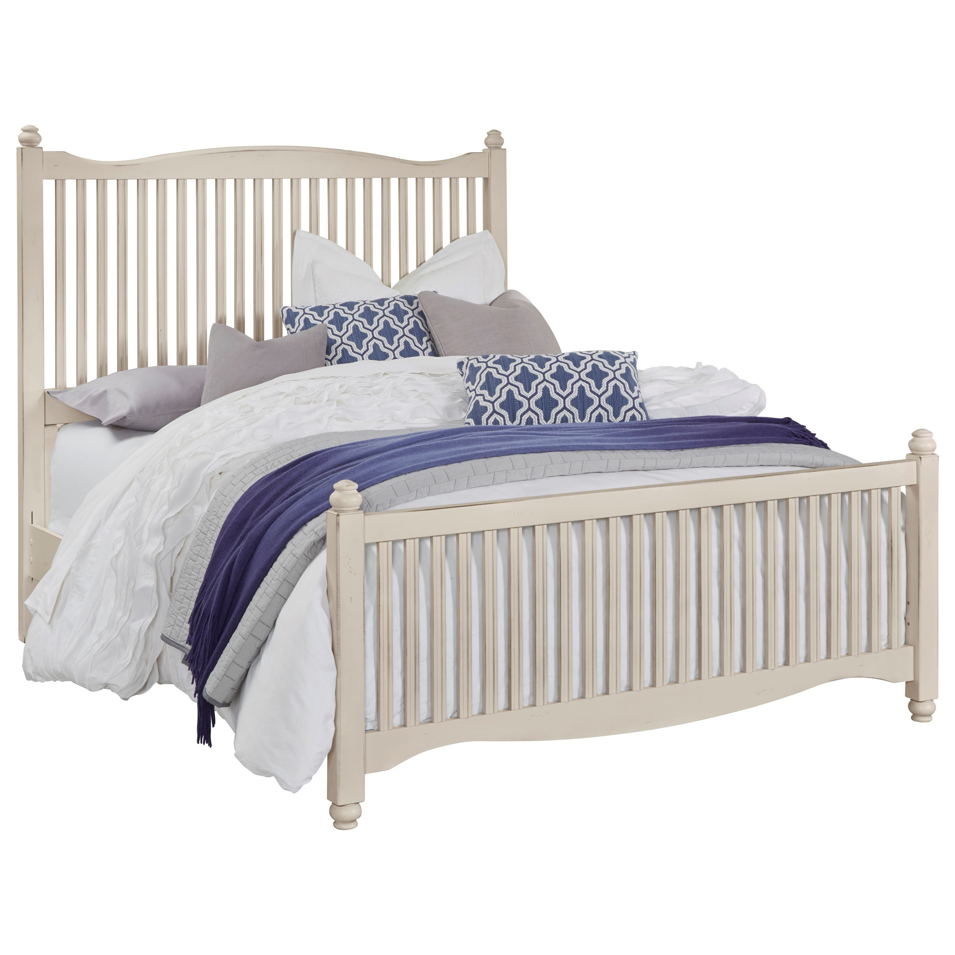 Vaughan Bassett American Maple Queen Slat Bed - Item Number: 404-557+755+922