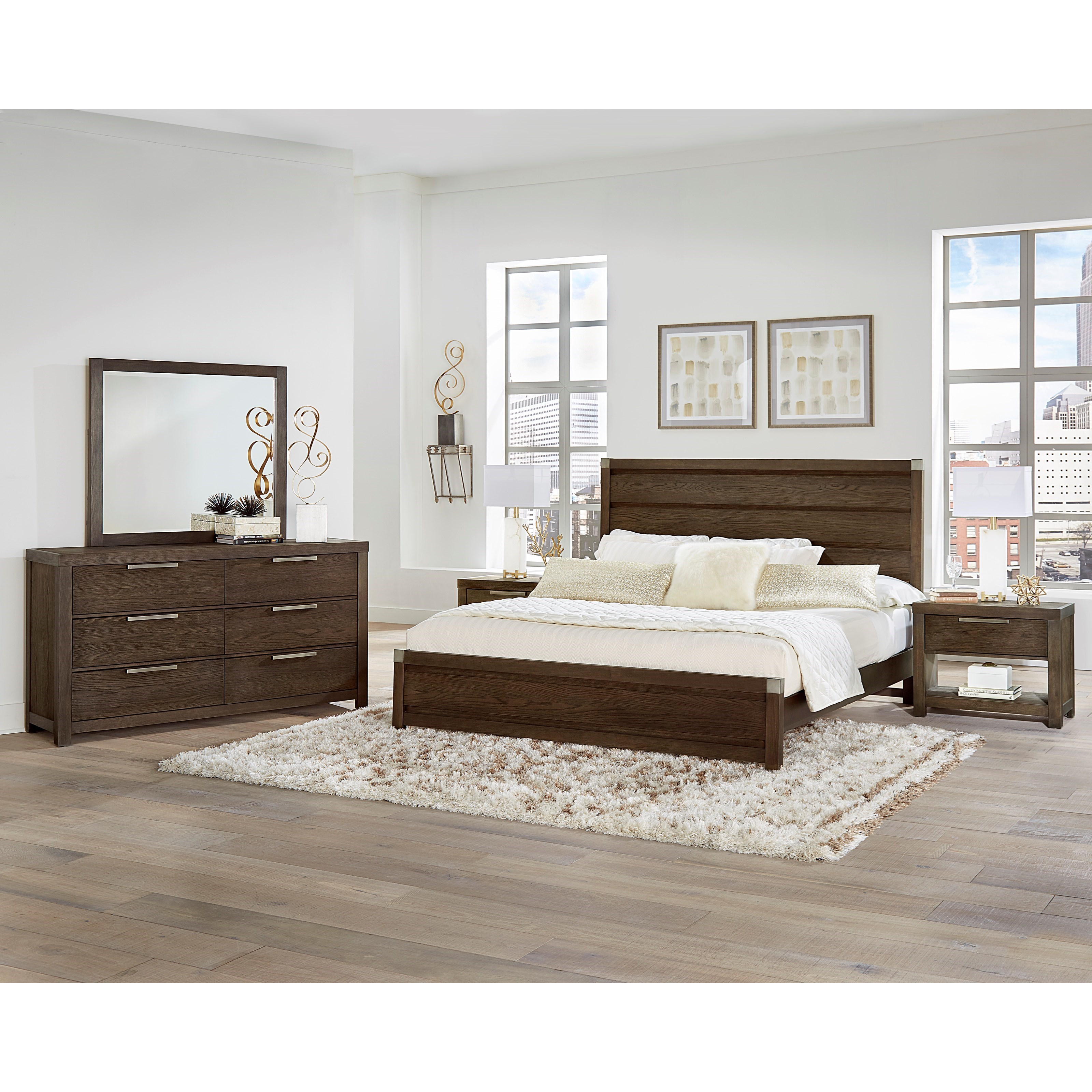Vaughan Bassett American Modern Queen Bedroom Group - Item Number: 650 Q Bedroom Group 2