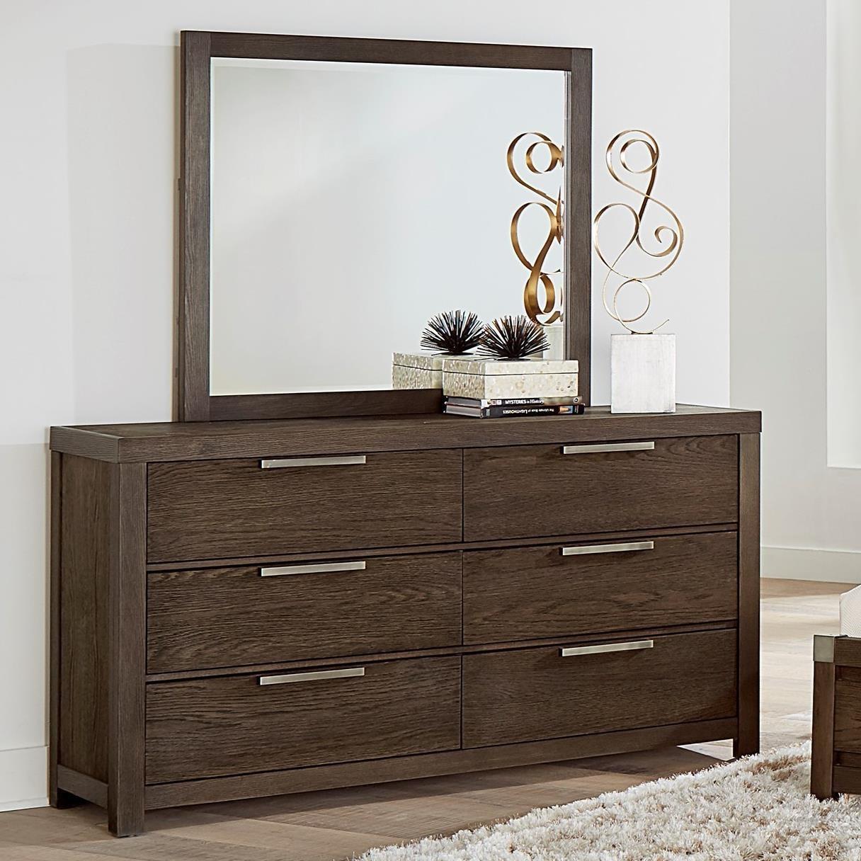 Vaughan Bassett American Modern Dresser & Landscape Mirror - Item Number: 650-002+446