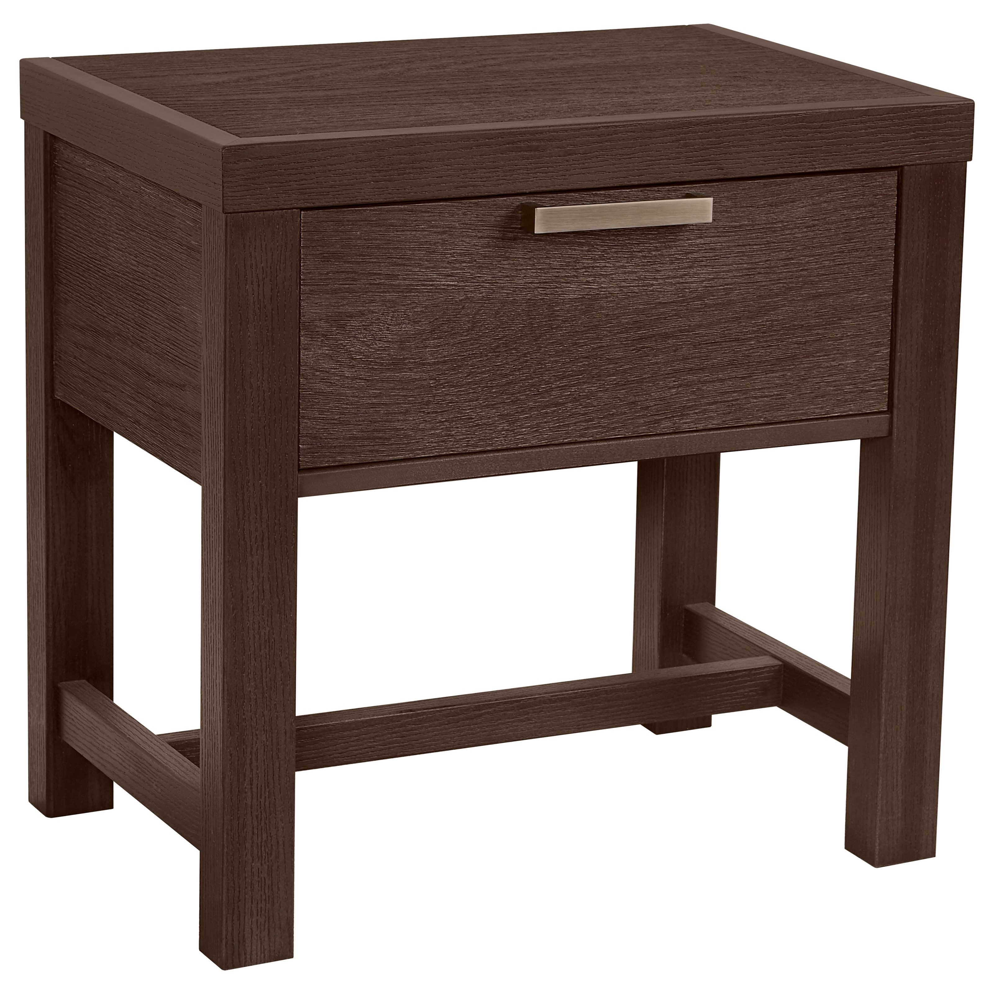 Vaughan Bassett American Modern Bedside Table - 1 Drawer w/ USB Charging - Item Number: 650-224