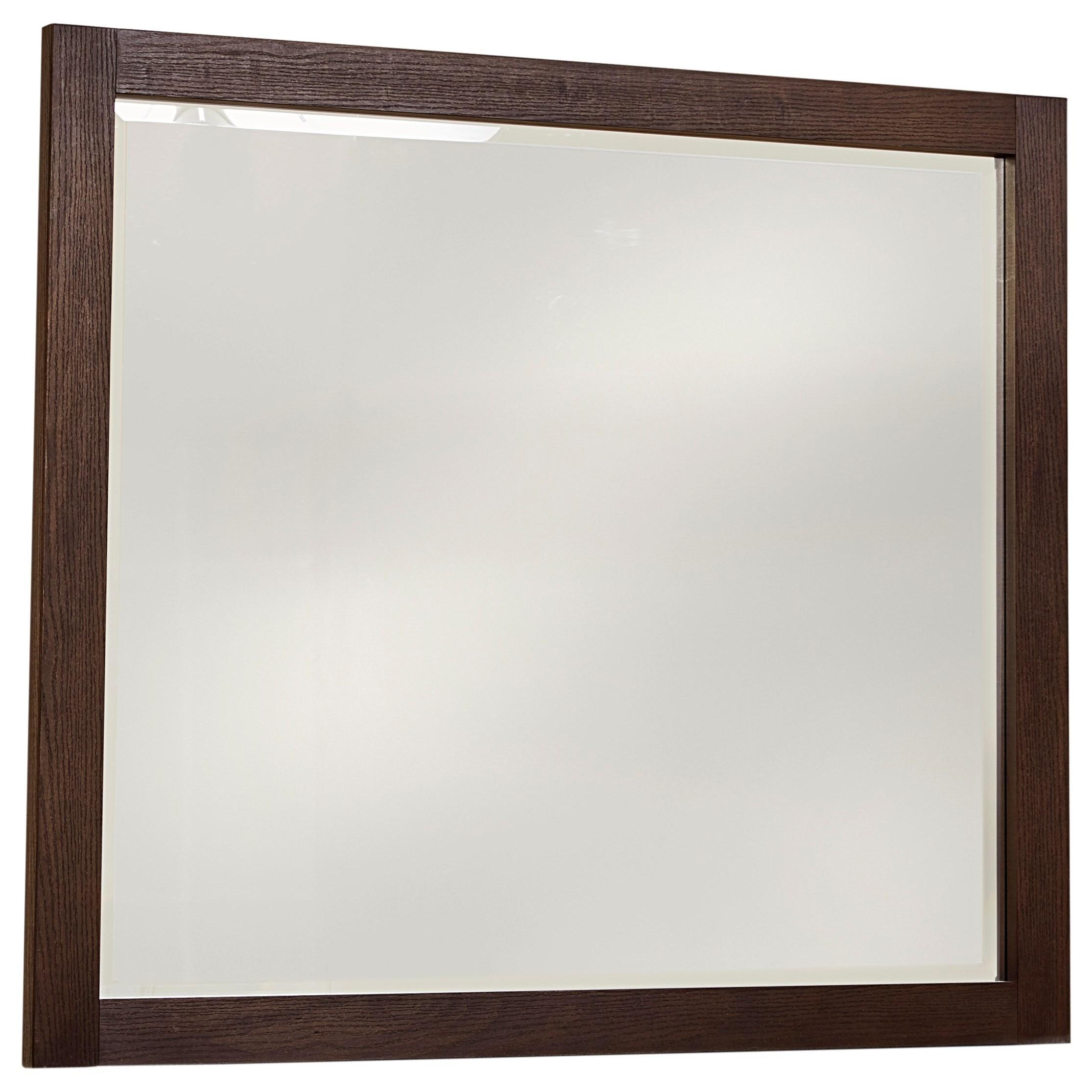 Vaughan Bassett American Modern Landscape Mirror - Beveled Glass - Item Number: 650-446