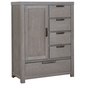 Armoire - 1 door, 5 drawers