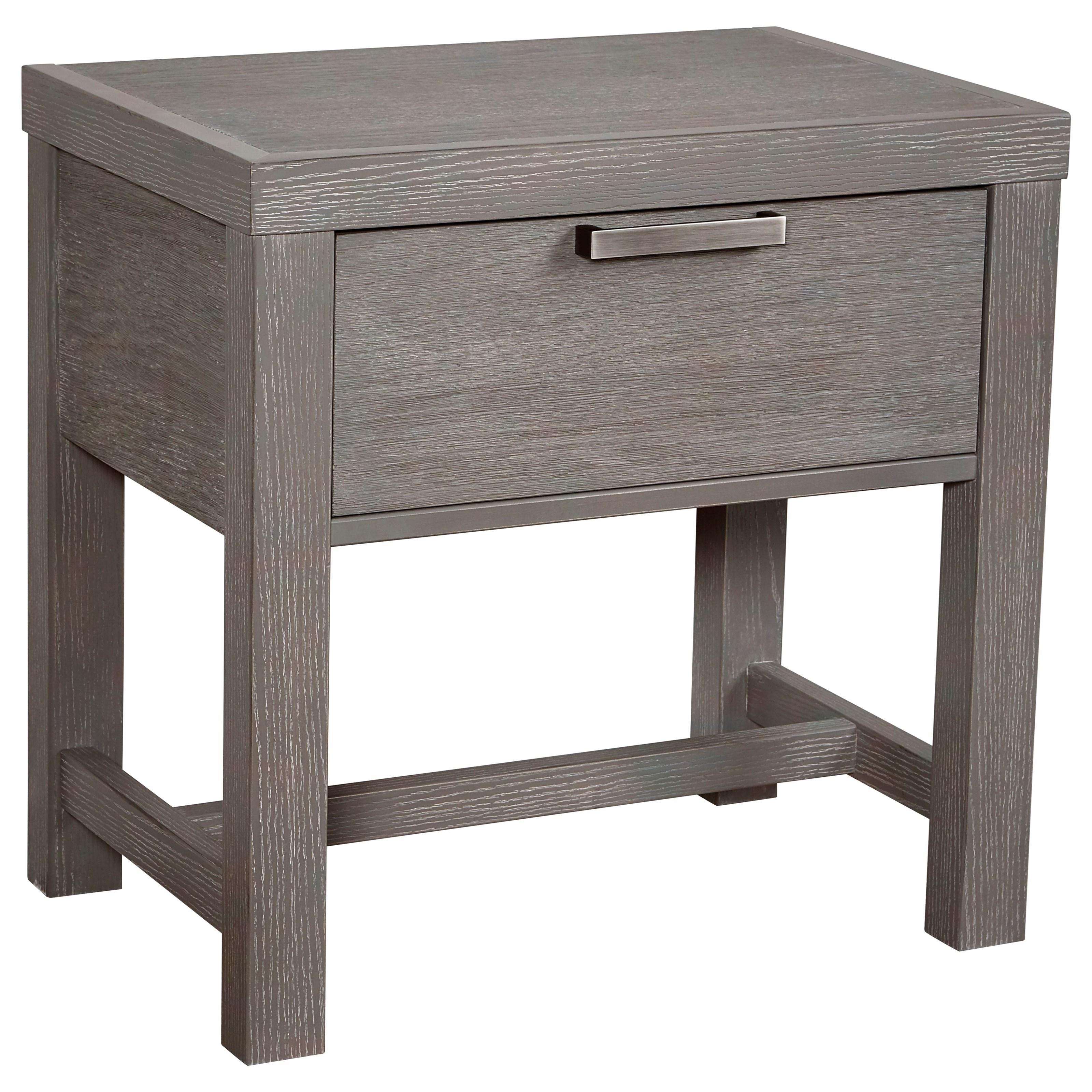 Vaughan Bassett American Modern Bedside Table - 1 Drawer w/ USB Charging - Item Number: 651-224