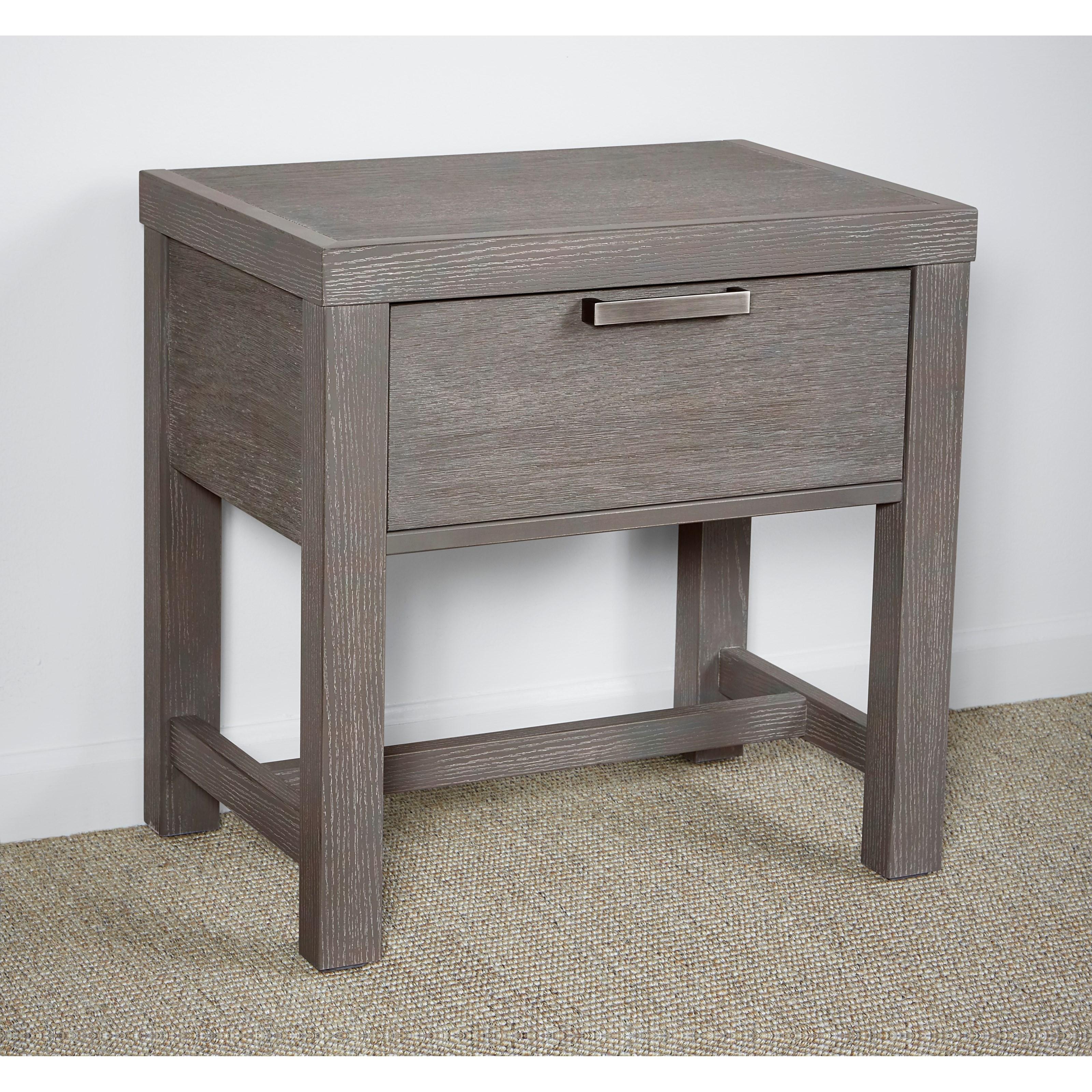 Vaughan Bassett American Modern Bedside Table 1 Drawer W