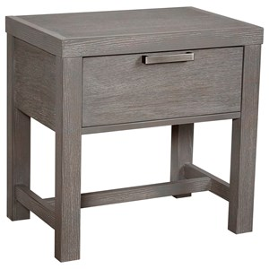 Bedside Table - 1 Drawer w/ USB Charging