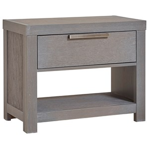 Night Table, 1 Drawer/1 Shelf & USB Charging