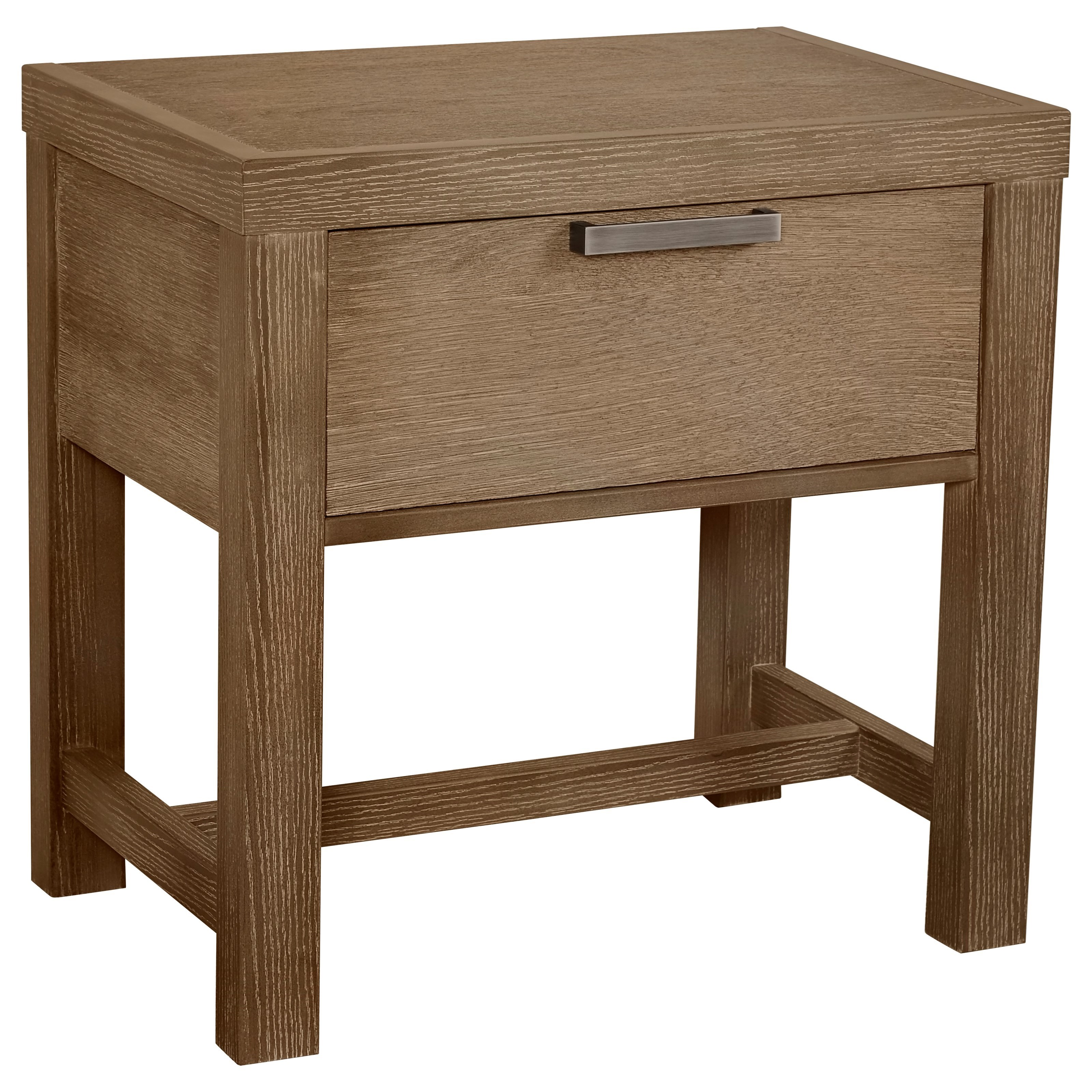 Vaughan Bassett American Modern Bedside Table - 1 Drawer w/ USB Charging - Item Number: 652-224