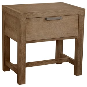 Vaughan Bassett American Modern Bedside Table - 1 Drawer w/ USB Charging