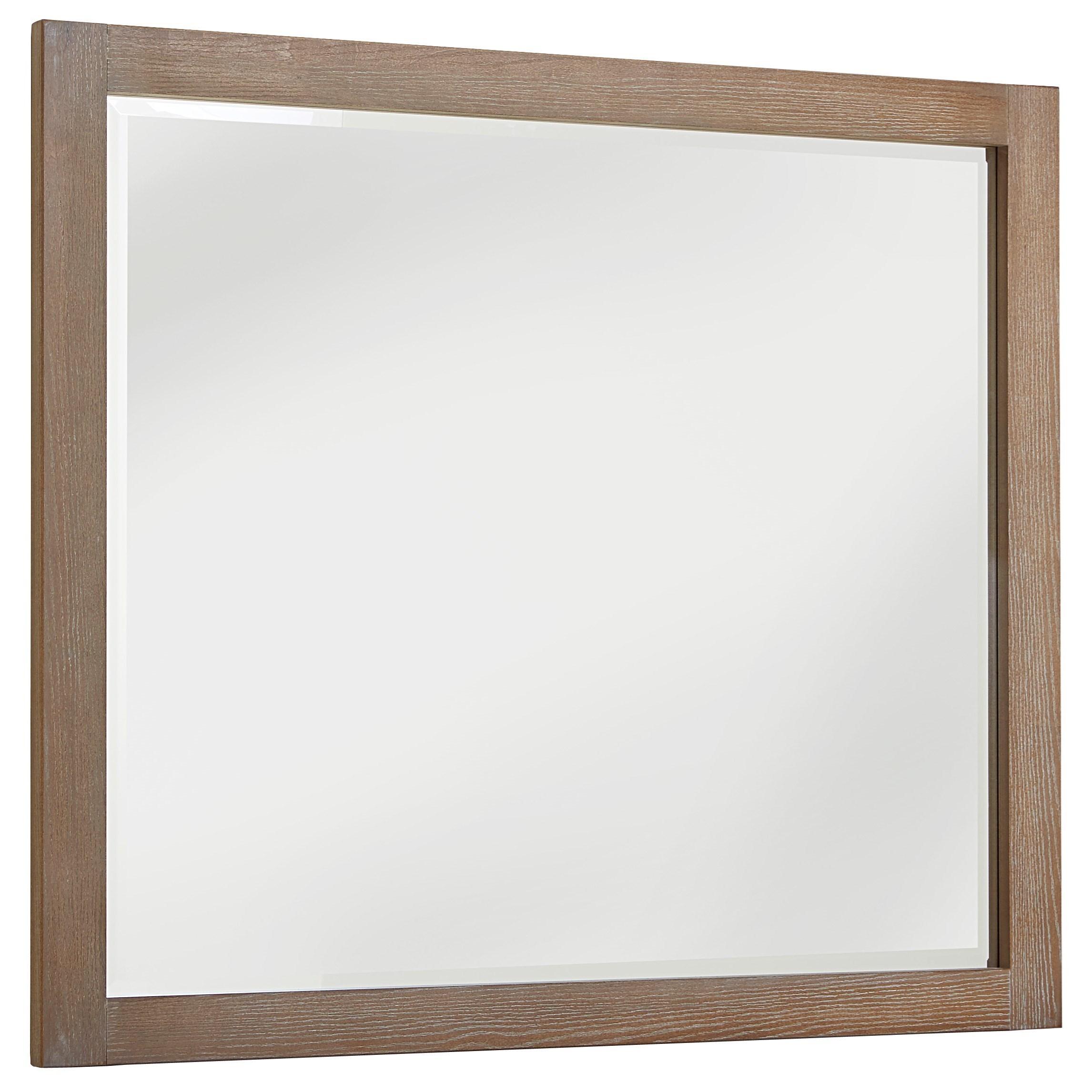 Vaughan Bassett American Modern Landscape Mirror - Beveled Glass - Item Number: 652-446