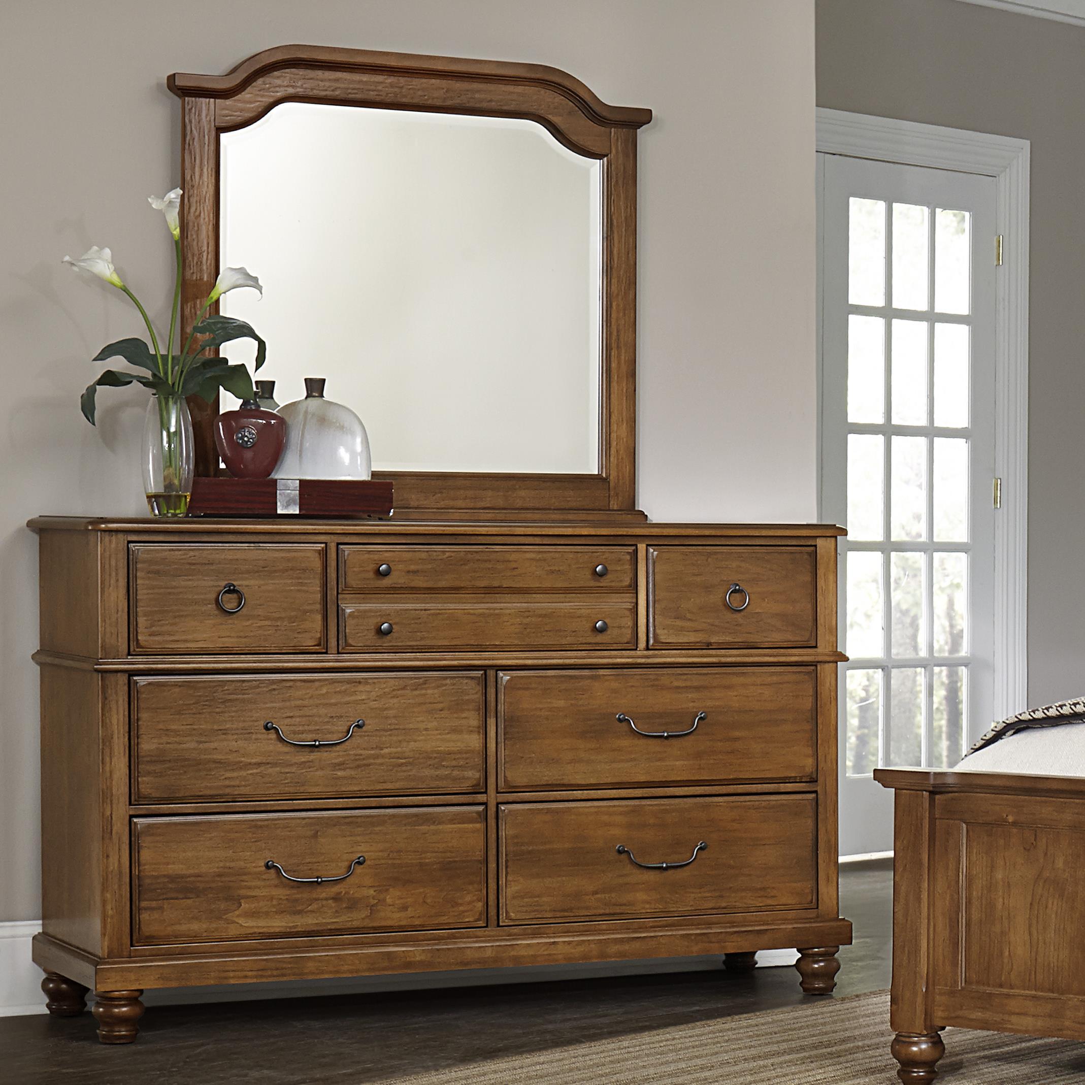 Vaughan Bassett Arrendelle Dresser & Mirror - Item Number: 440-002+446
