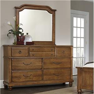 Vaughan Bassett Arrendelle Dresser & Mirror